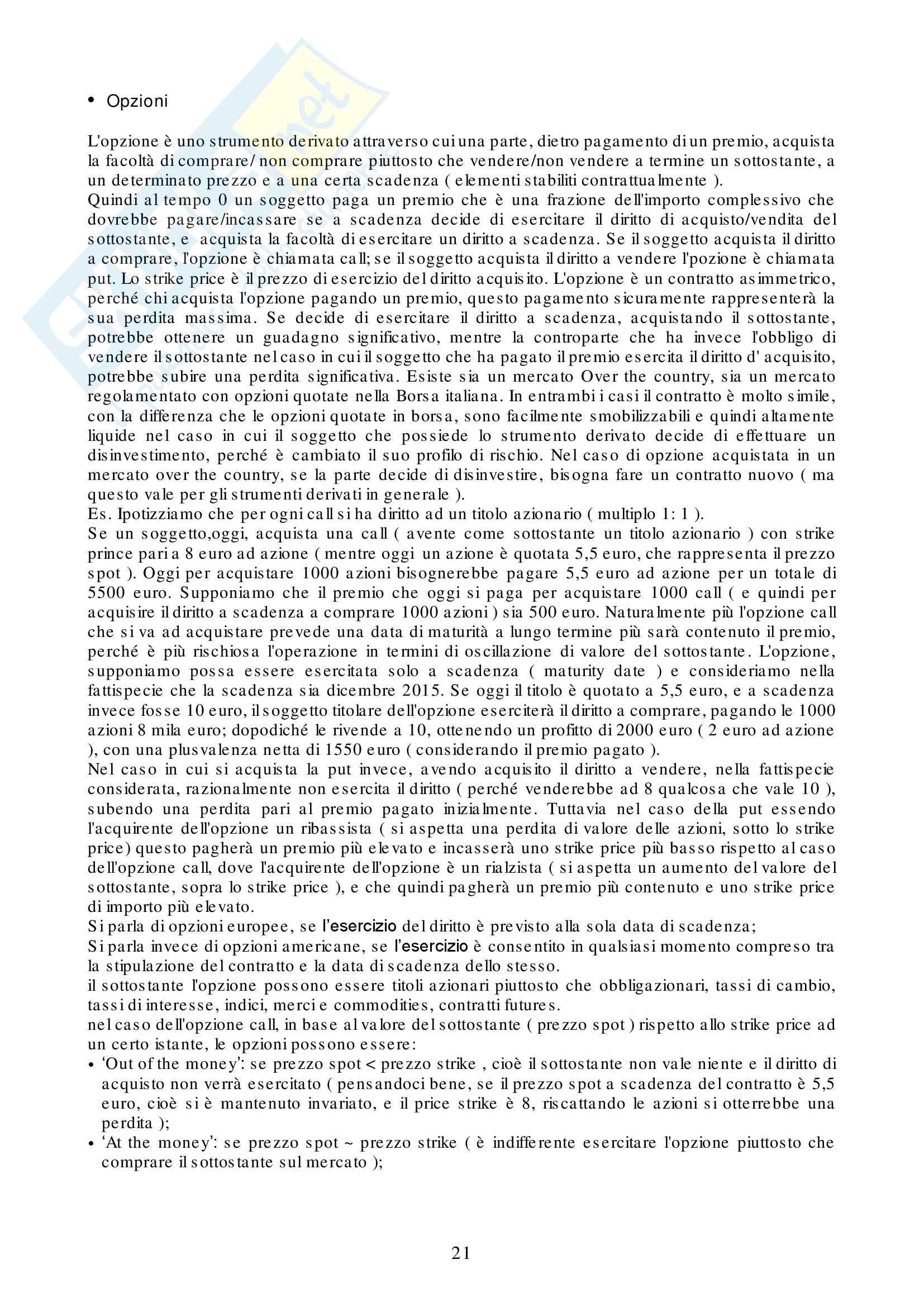 Appunti Strumenti Finanziari d'Impresa Pag. 21