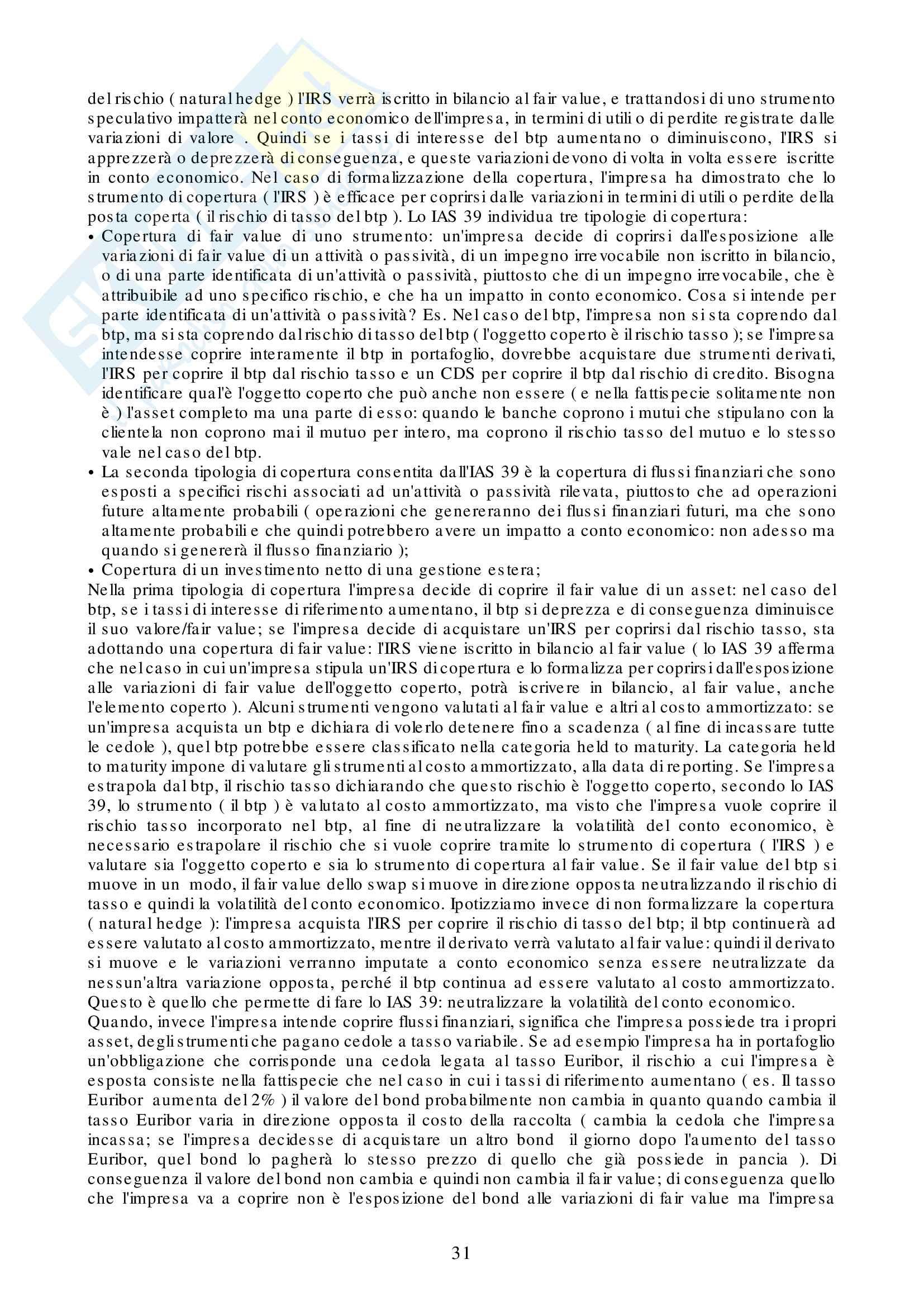 Appunti Strumenti Finanziari d'Impresa Pag. 31