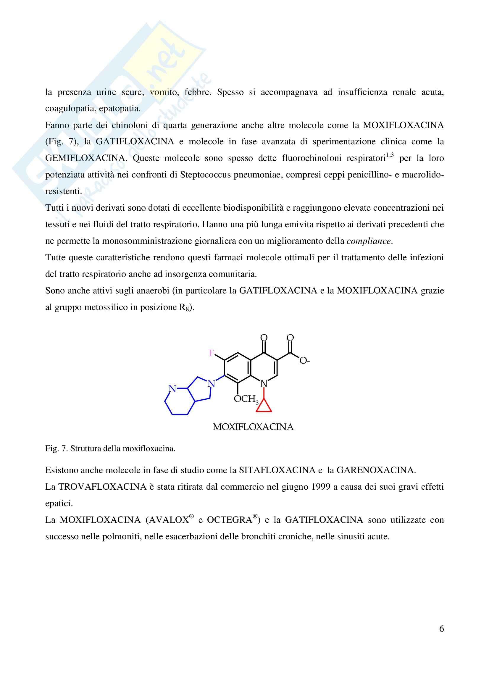 Chimica farmaceutica - fluorochinoloni Pag. 6