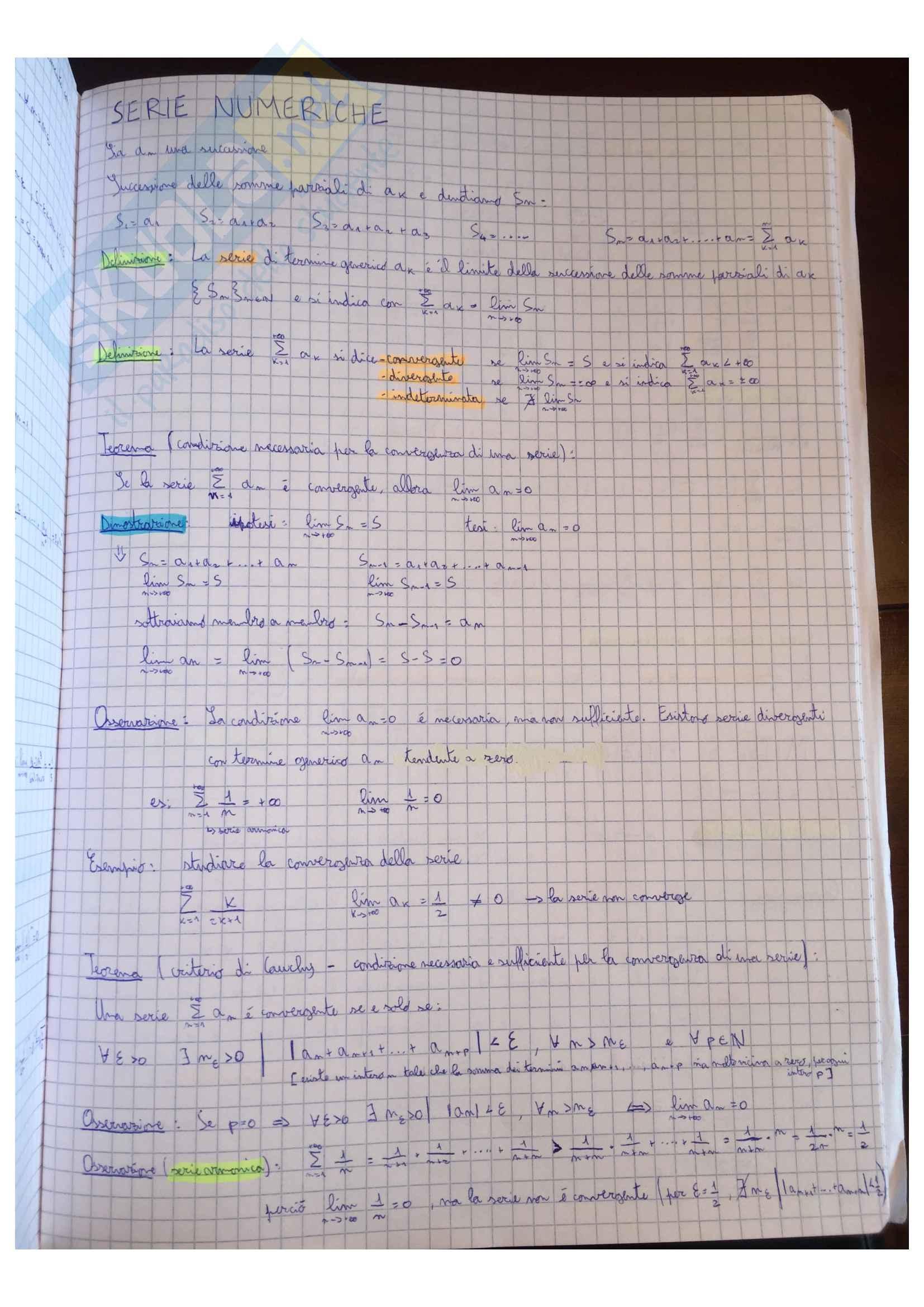 Appunti Matematica generale, docente Valentina Guizzi Pag. 21