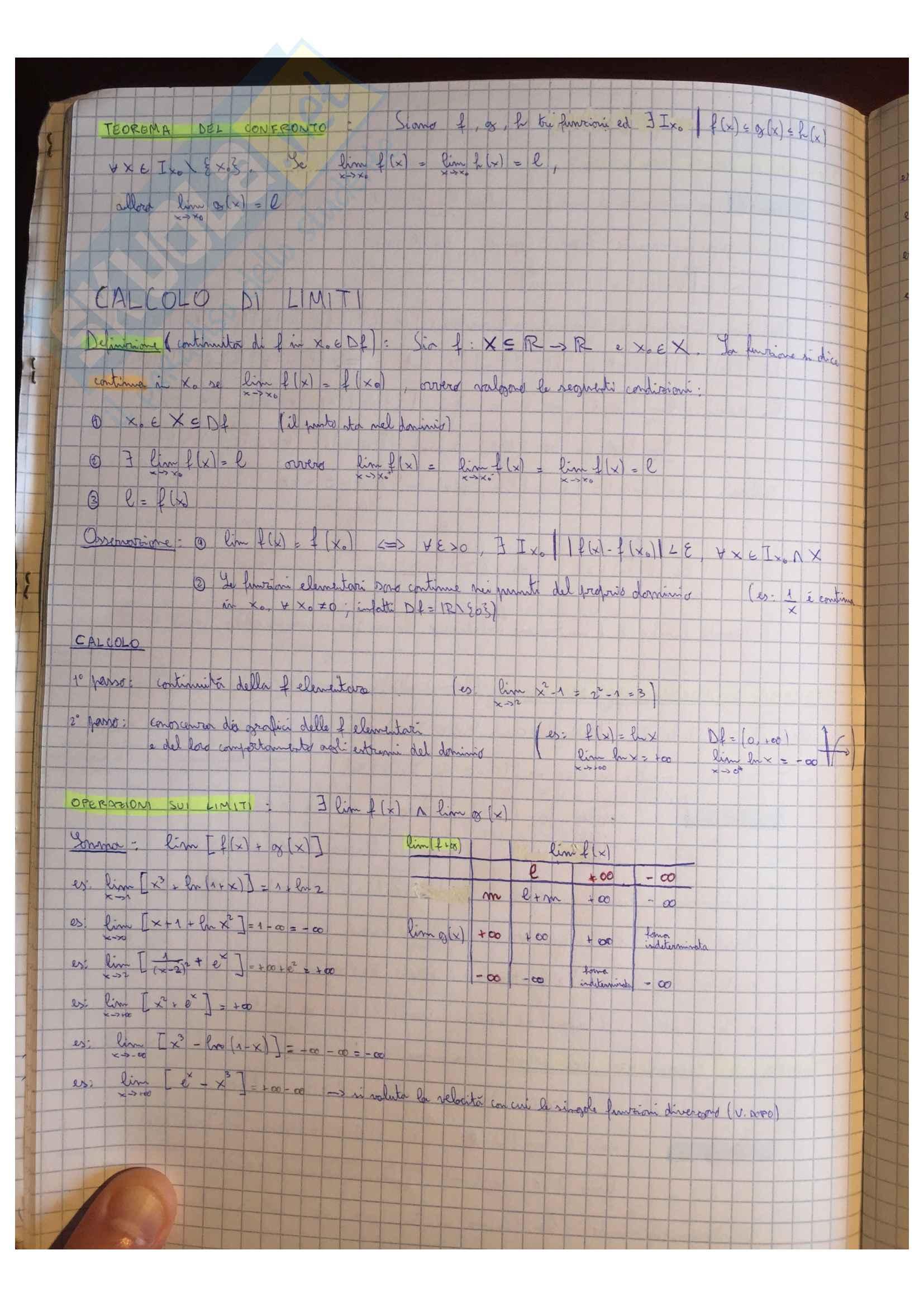 Appunti Matematica generale, docente Valentina Guizzi Pag. 26