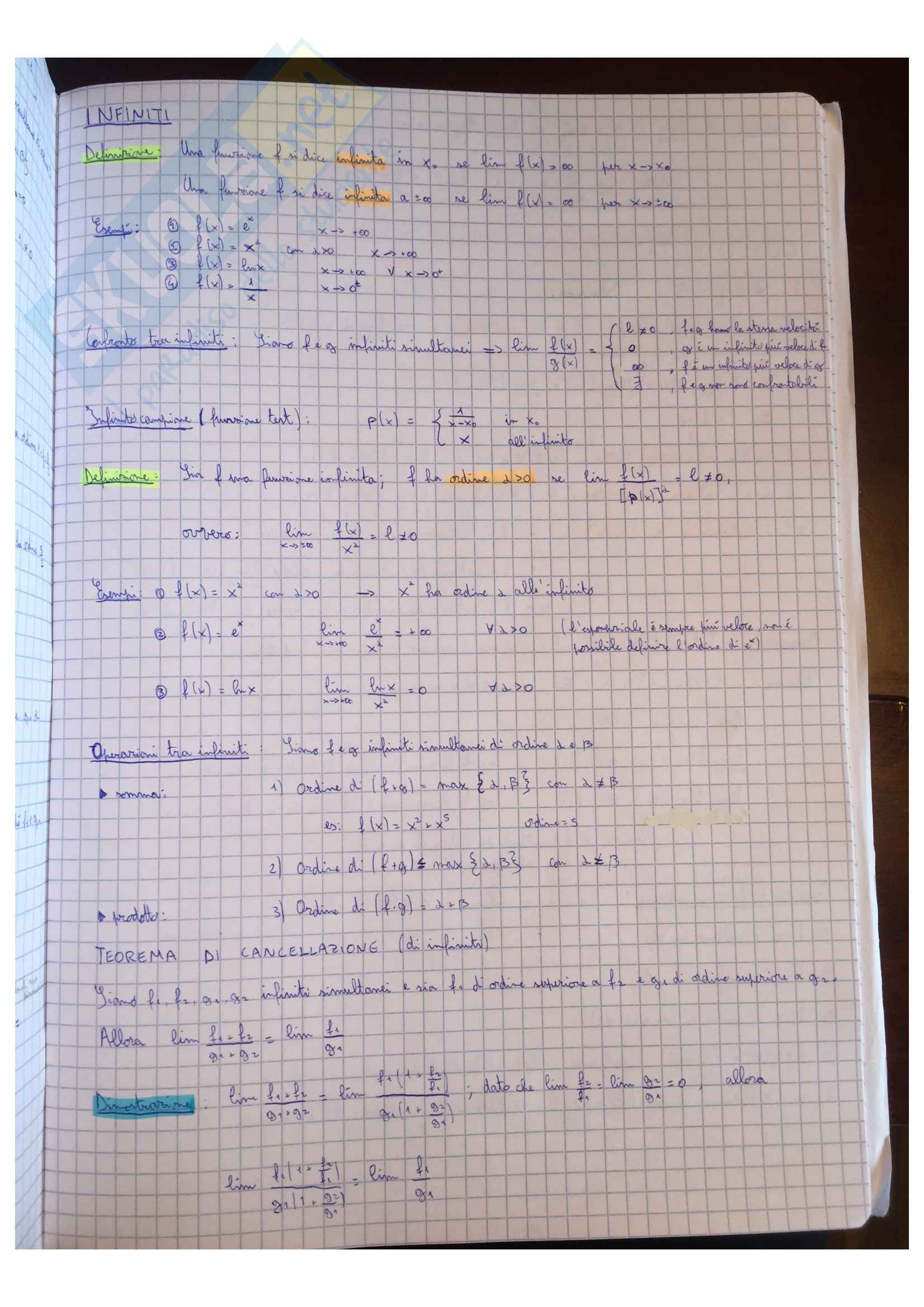 Appunti Matematica generale, docente Valentina Guizzi Pag. 31