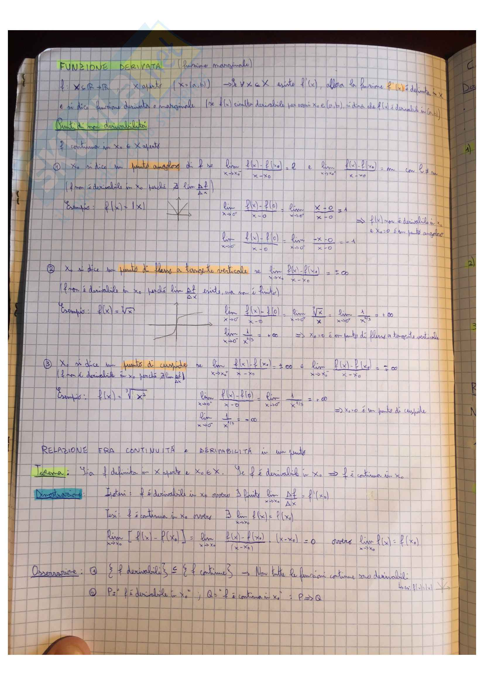 Appunti Matematica generale, docente Valentina Guizzi Pag. 36