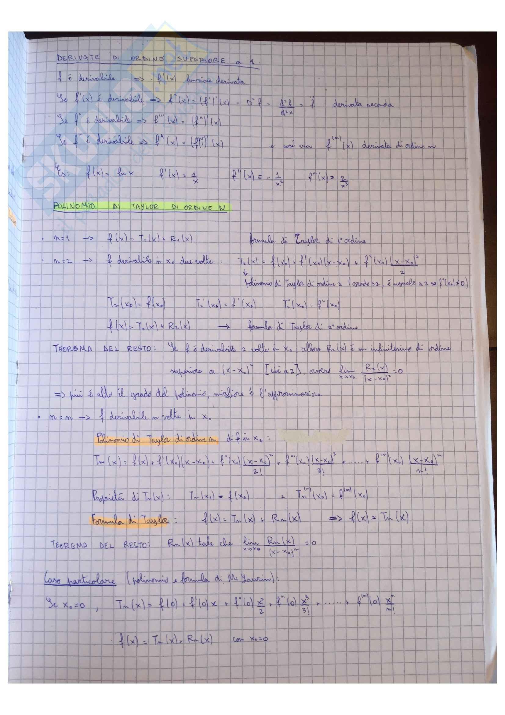 Appunti Matematica generale, docente Valentina Guizzi Pag. 41