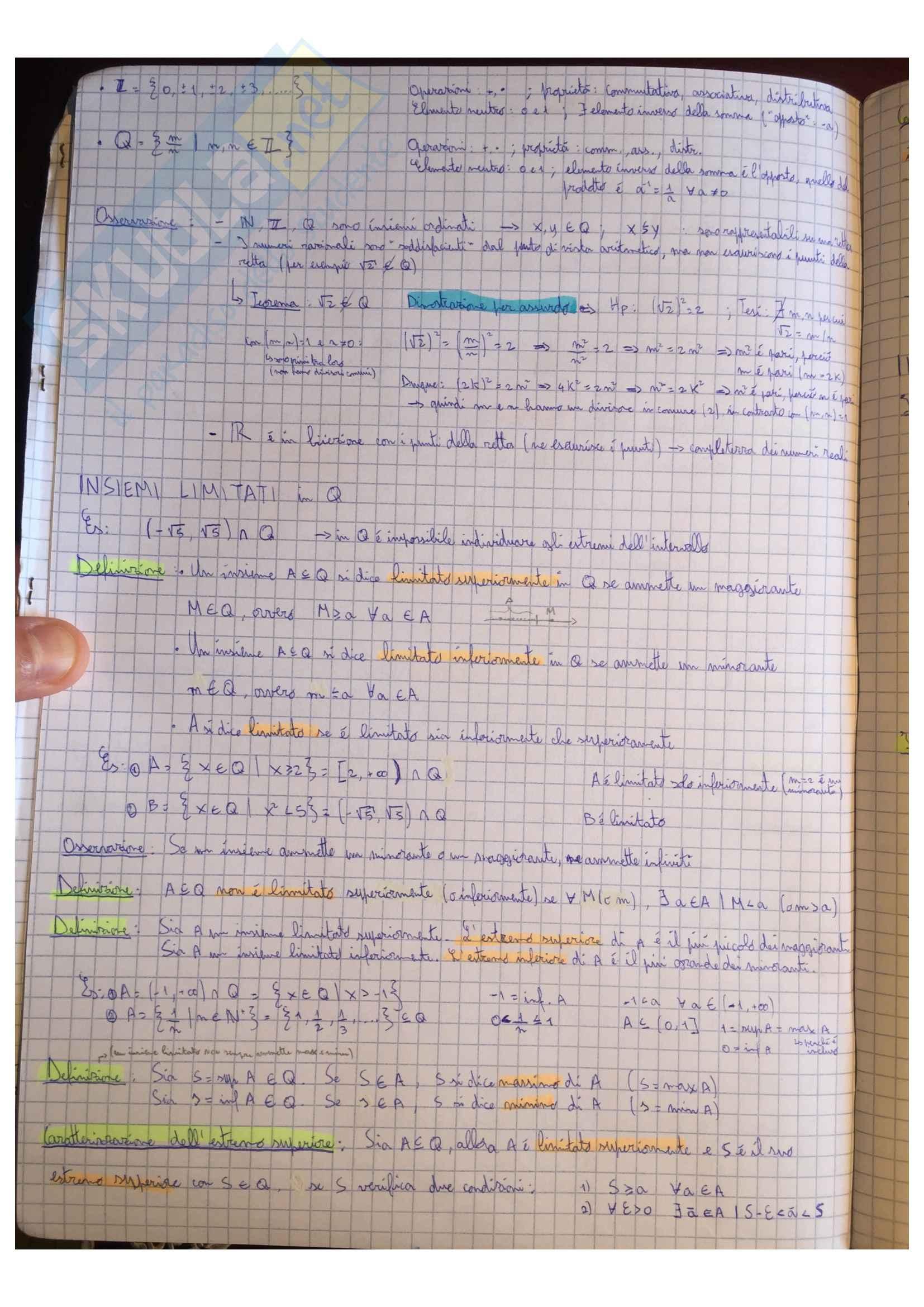 Appunti Matematica generale, docente Valentina Guizzi Pag. 6