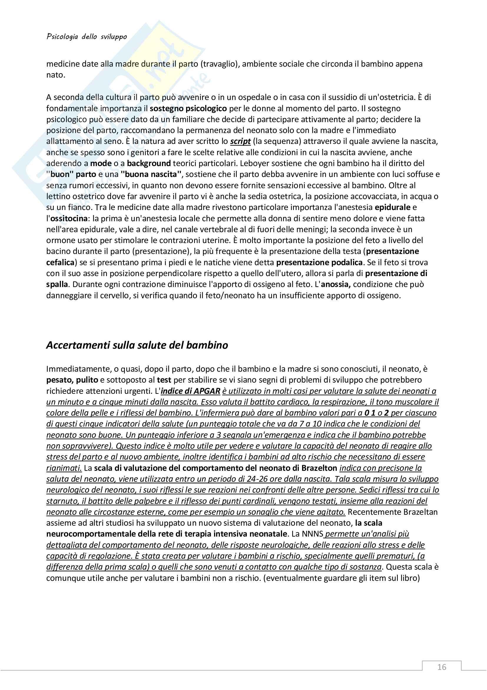 Riassunto esame Psicologia dello sviluppo Pag. 16