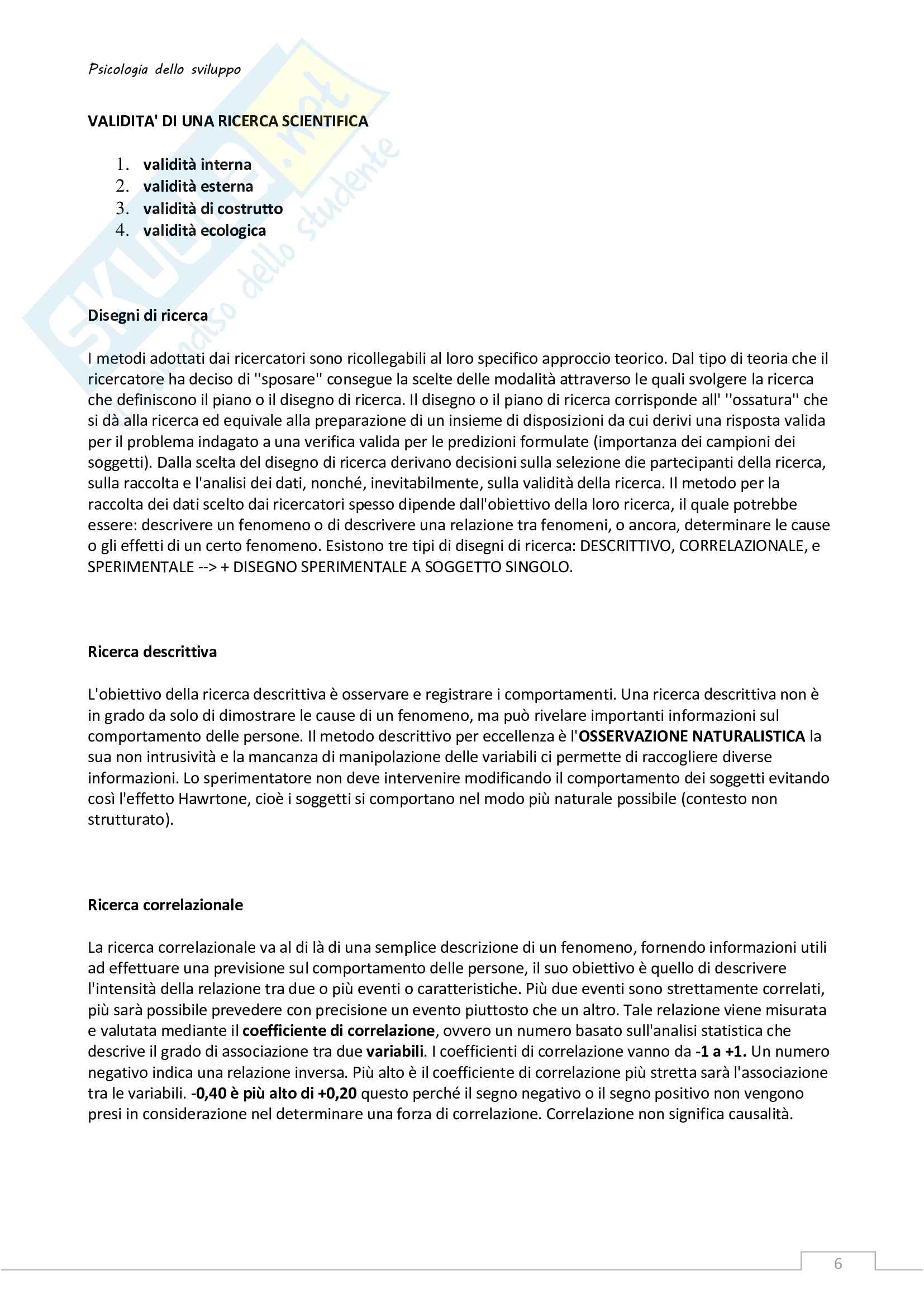 Riassunto esame Psicologia dello sviluppo Pag. 6
