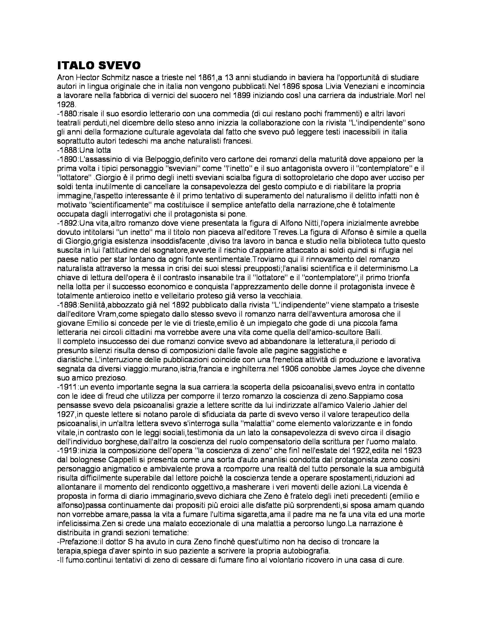 appunto F. Contorbia Letteratura italiana contemporanea