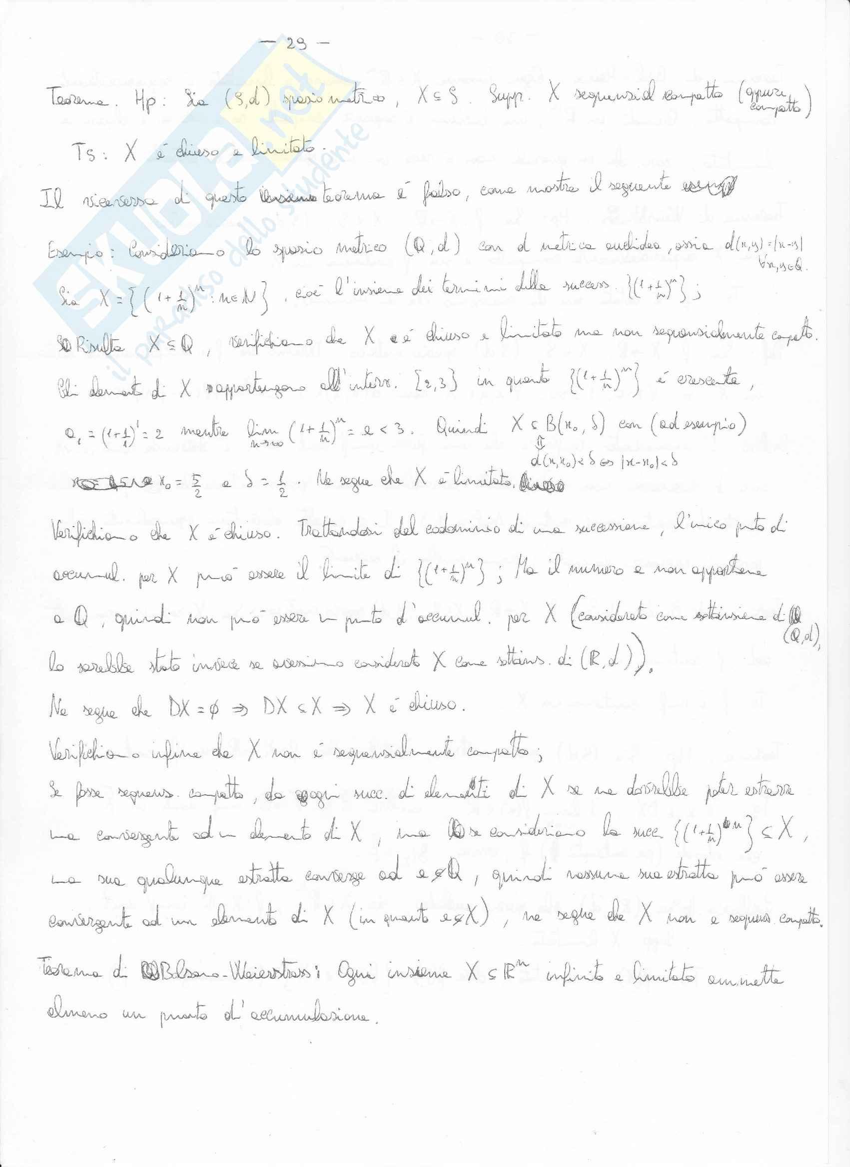 Analisi matematica 2 - il  teorema hp