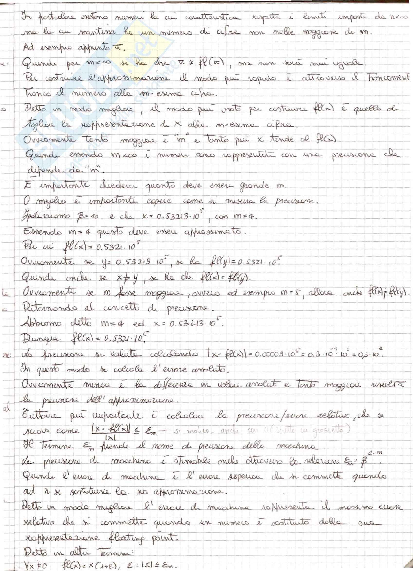 Metodi Numerici per l'Ingegneria  - Appunti Pag. 11