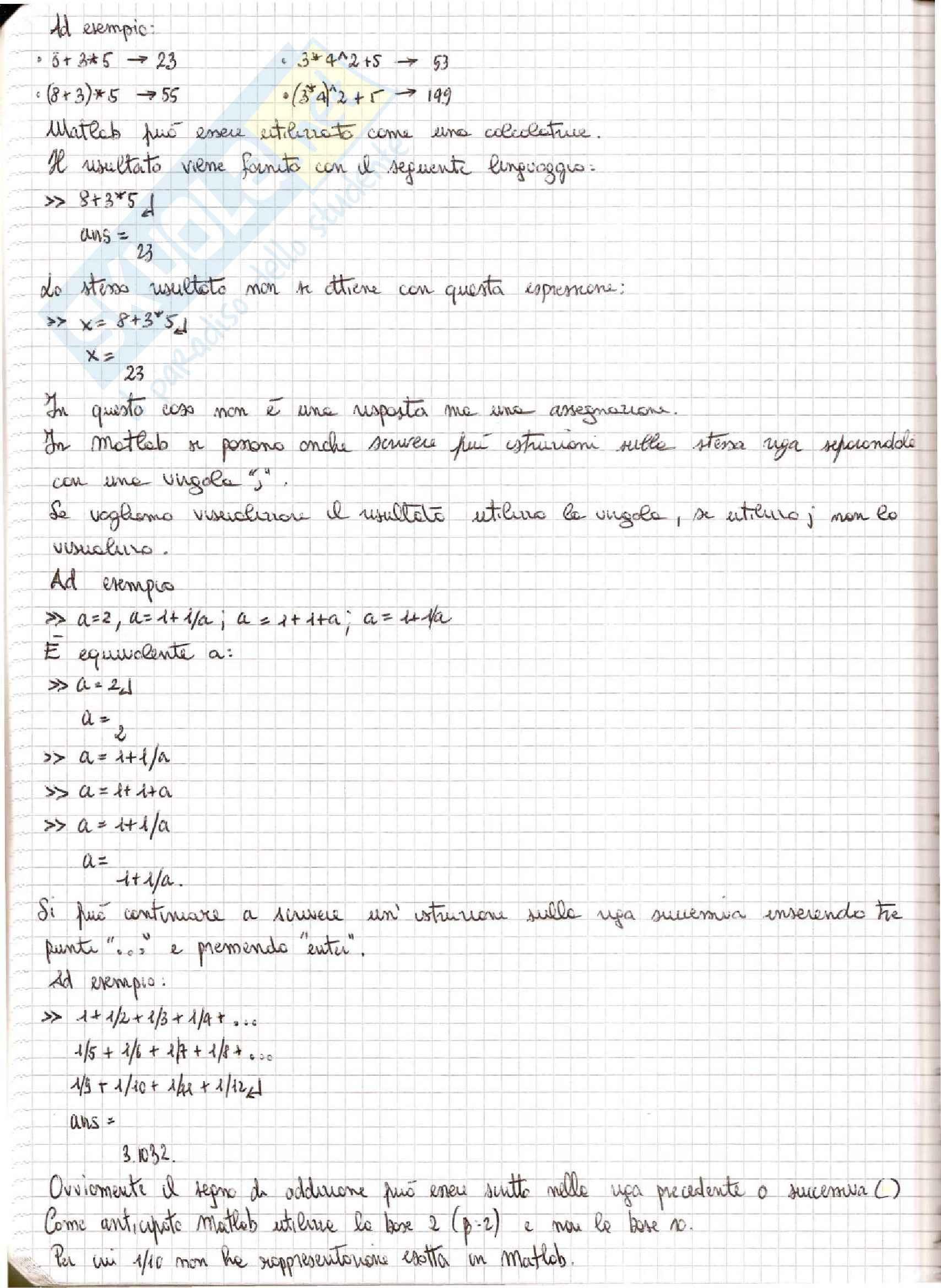 Metodi Numerici per l'Ingegneria  - Appunti Pag. 16