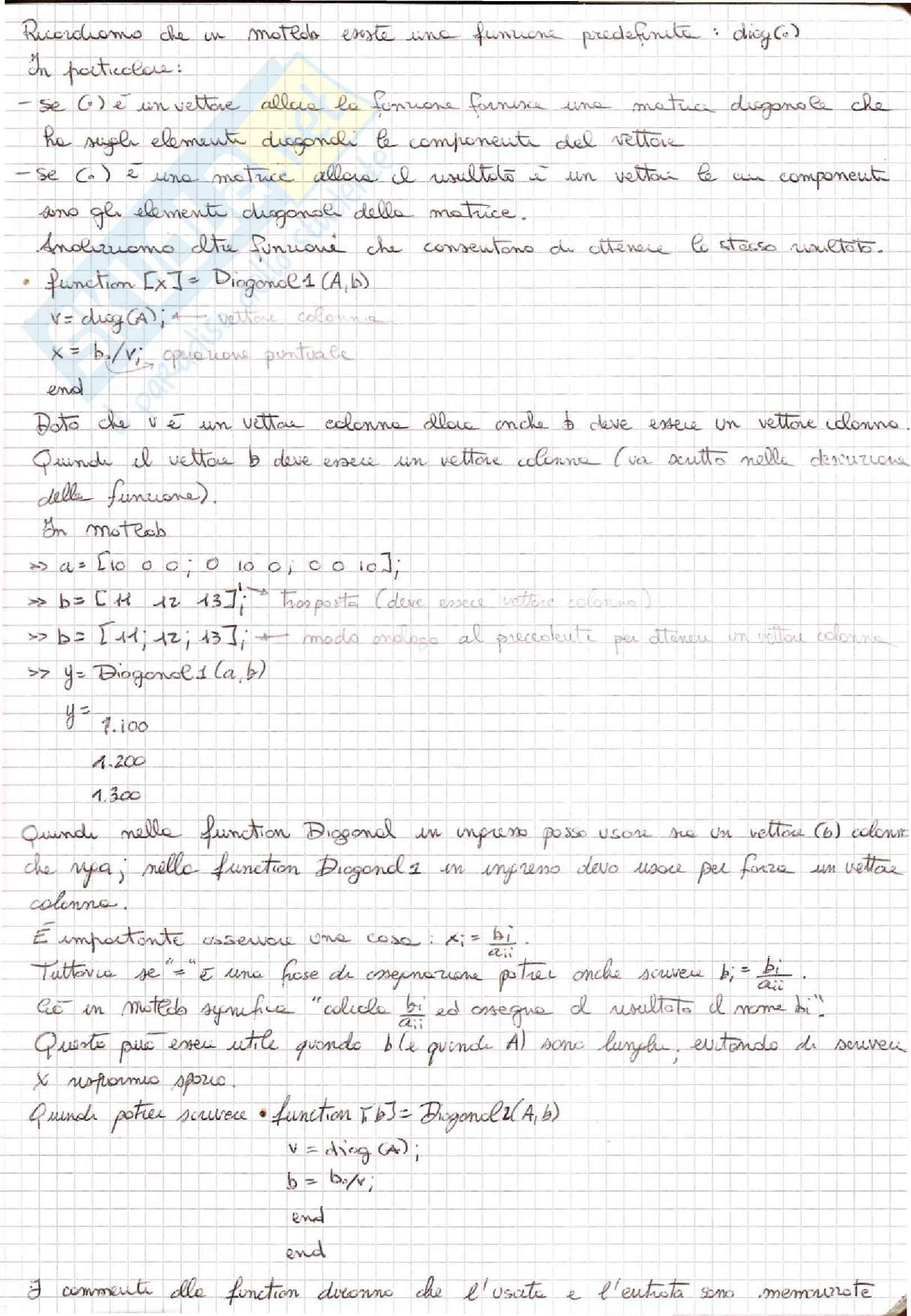 Metodi Numerici per l'Ingegneria  - Appunti Pag. 61