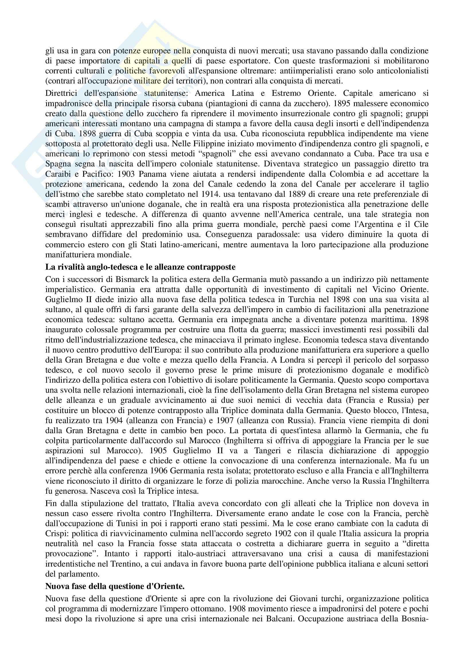 Riassunto esame Storia contemporanea, prof. Di Michele, libro consigliato Storia contemporanea, Donzelli Pag. 6