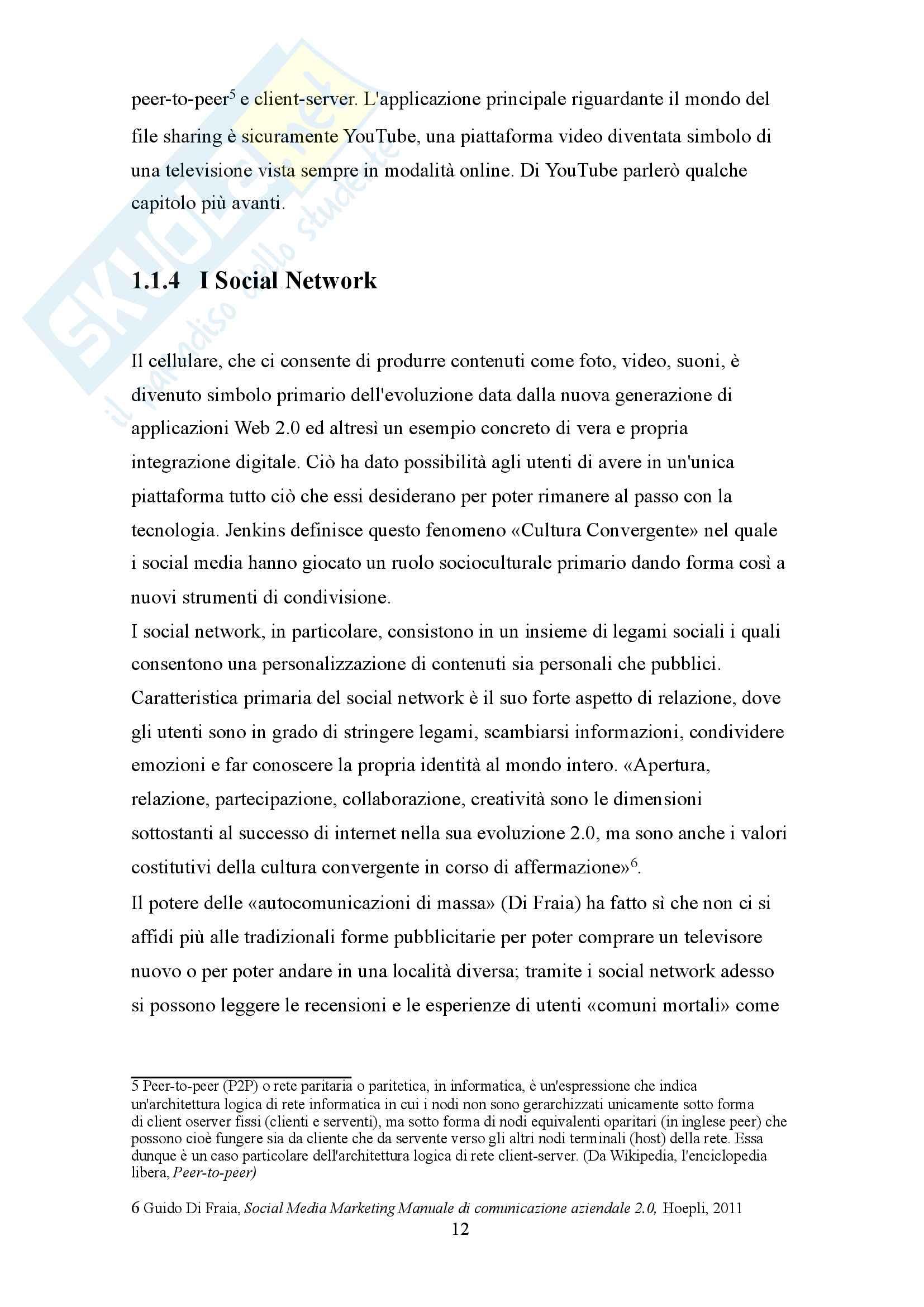 Social media marketing: advertising e fidelizzazione attraverso una strategia multicanale Pag. 11