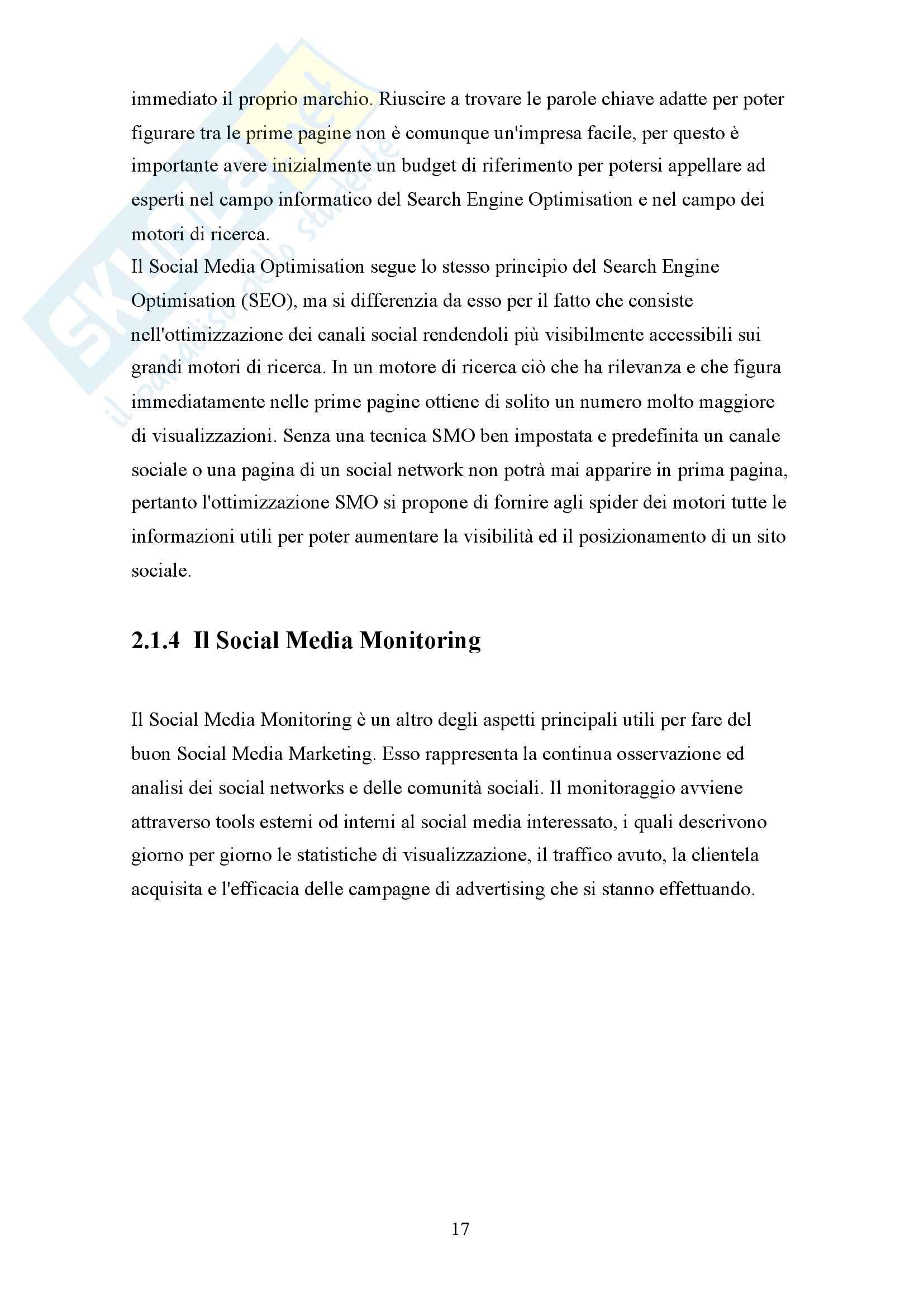 Social media marketing: advertising e fidelizzazione attraverso una strategia multicanale Pag. 16