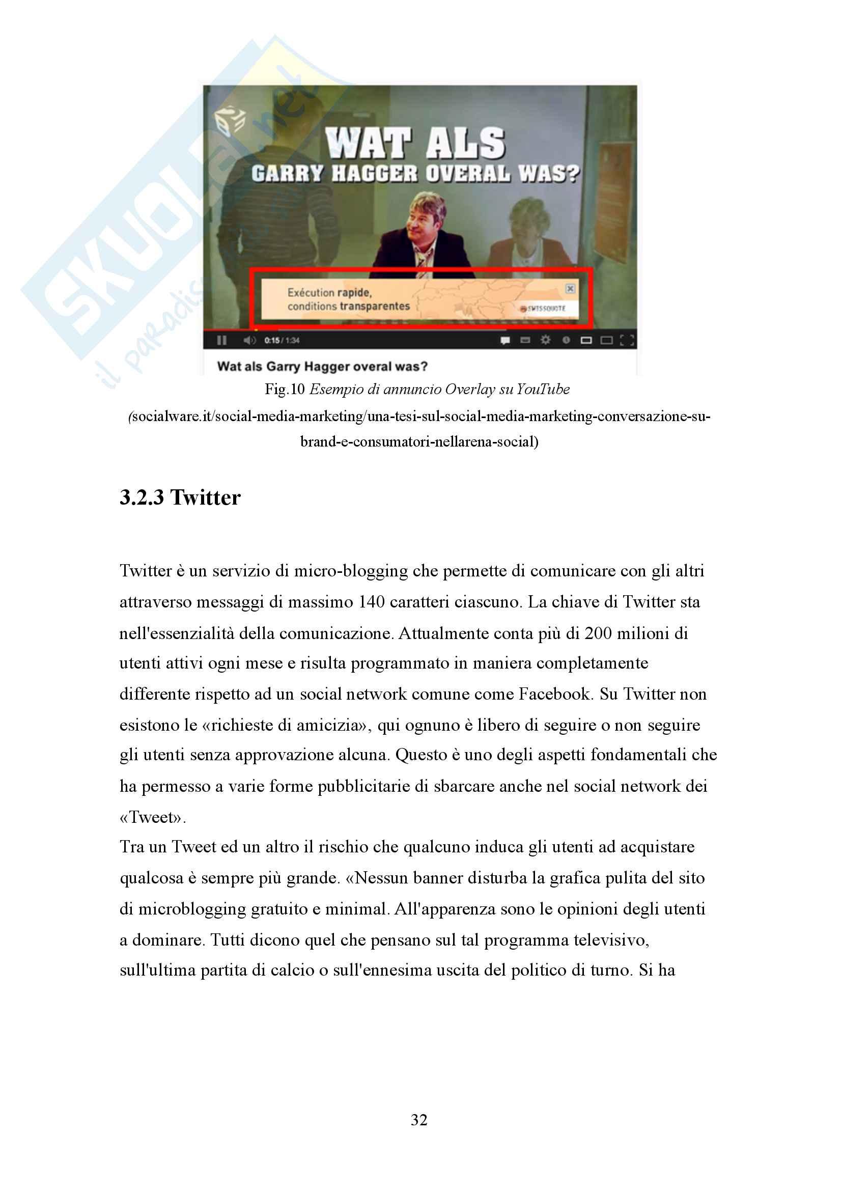 Social media marketing: advertising e fidelizzazione attraverso una strategia multicanale Pag. 31