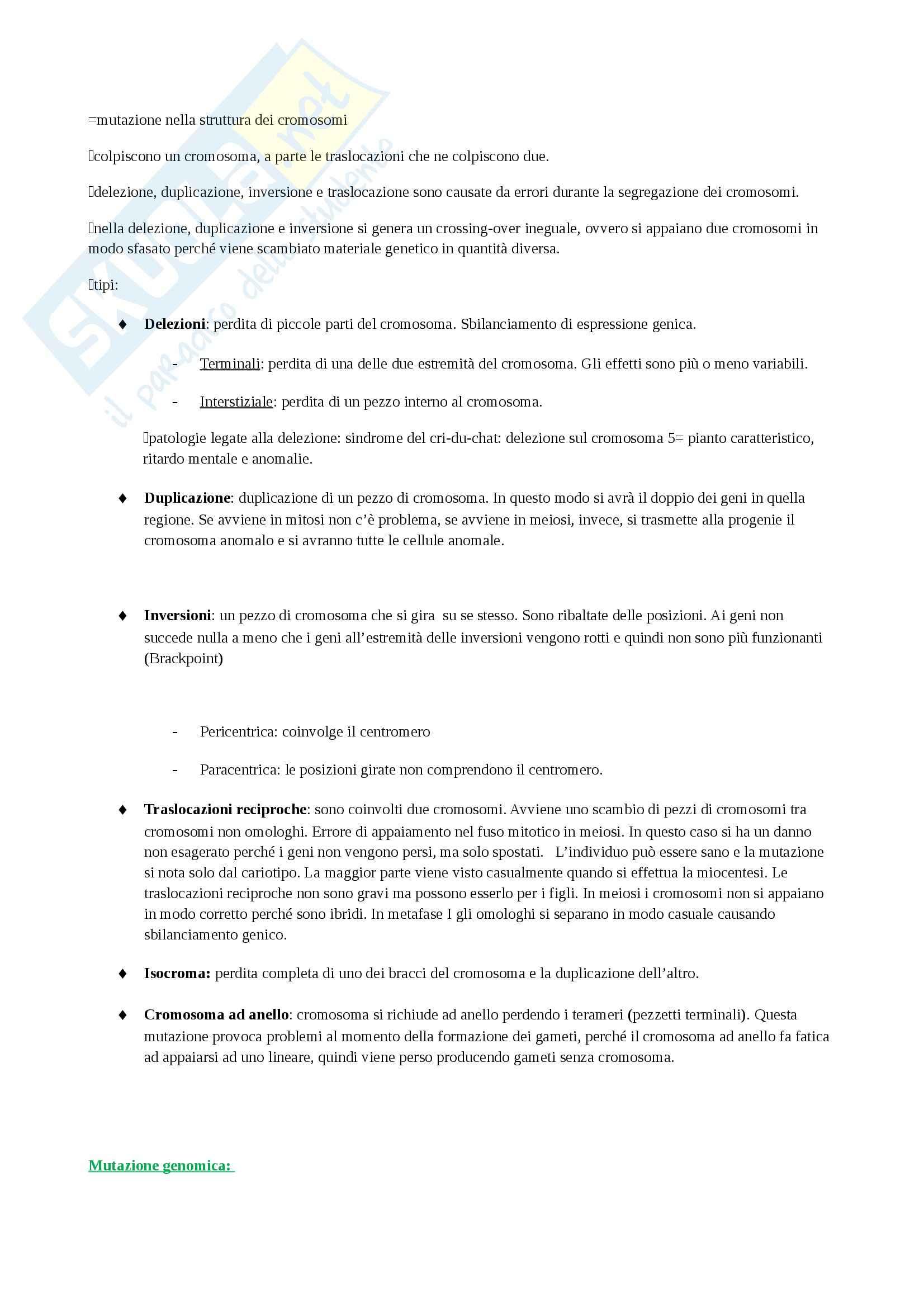 Biologia e genetica - Appunti Pag. 61