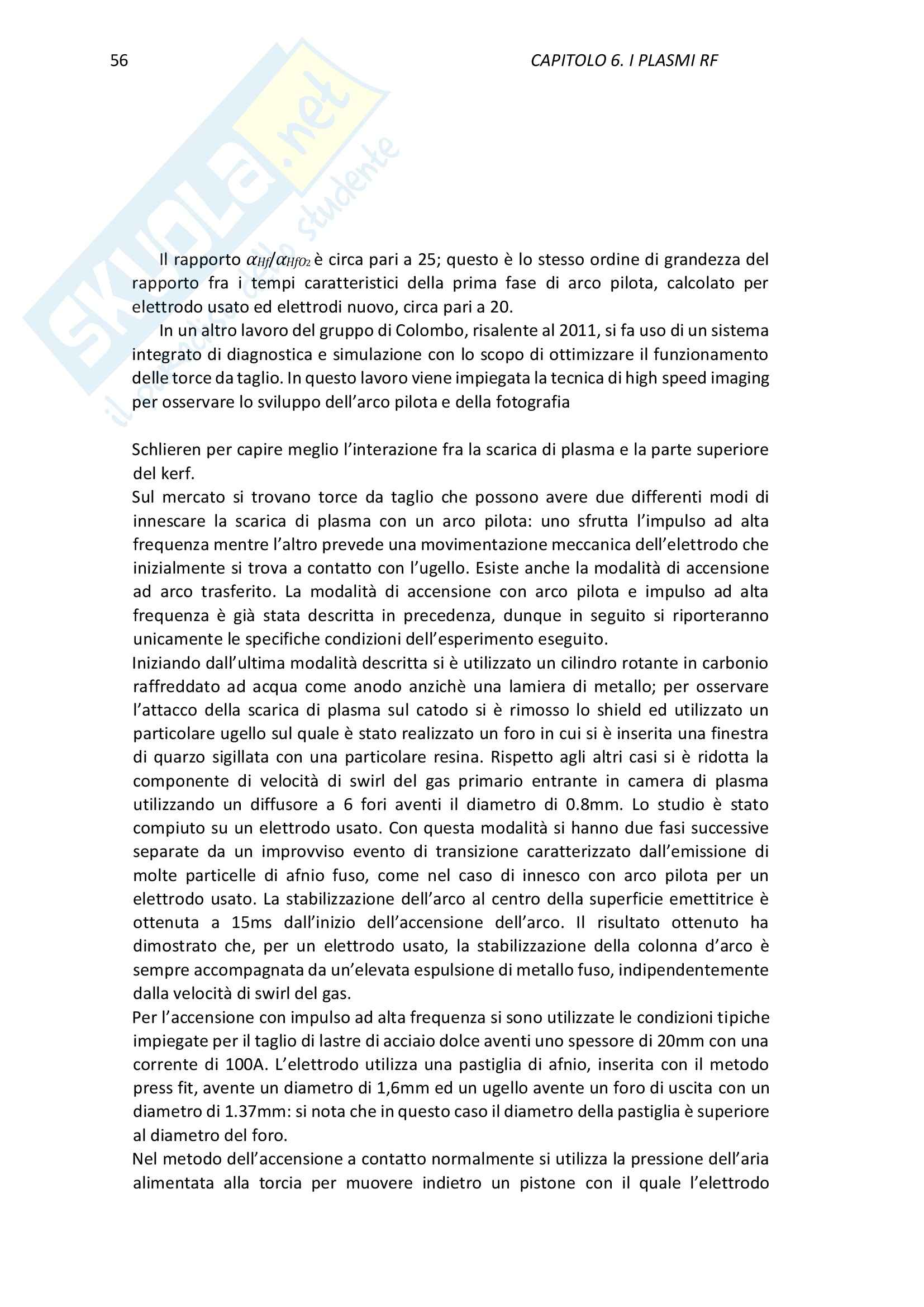 Lezioni, Applicazioni Industriali dei Plasmi Pag. 56