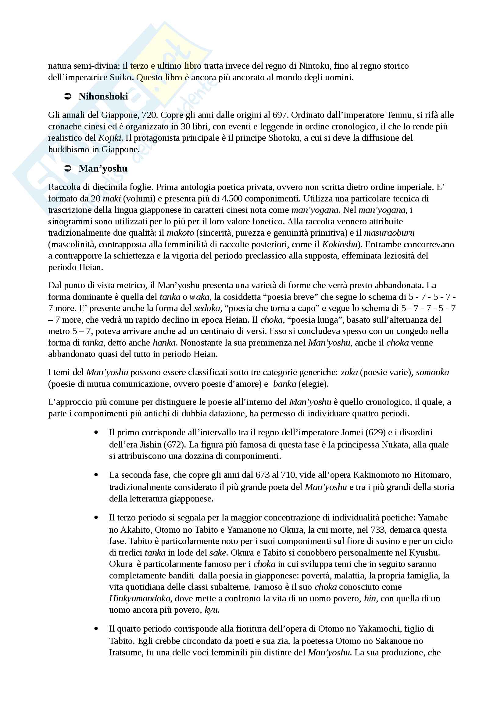 Letteratura giapponese 1 Pag. 2