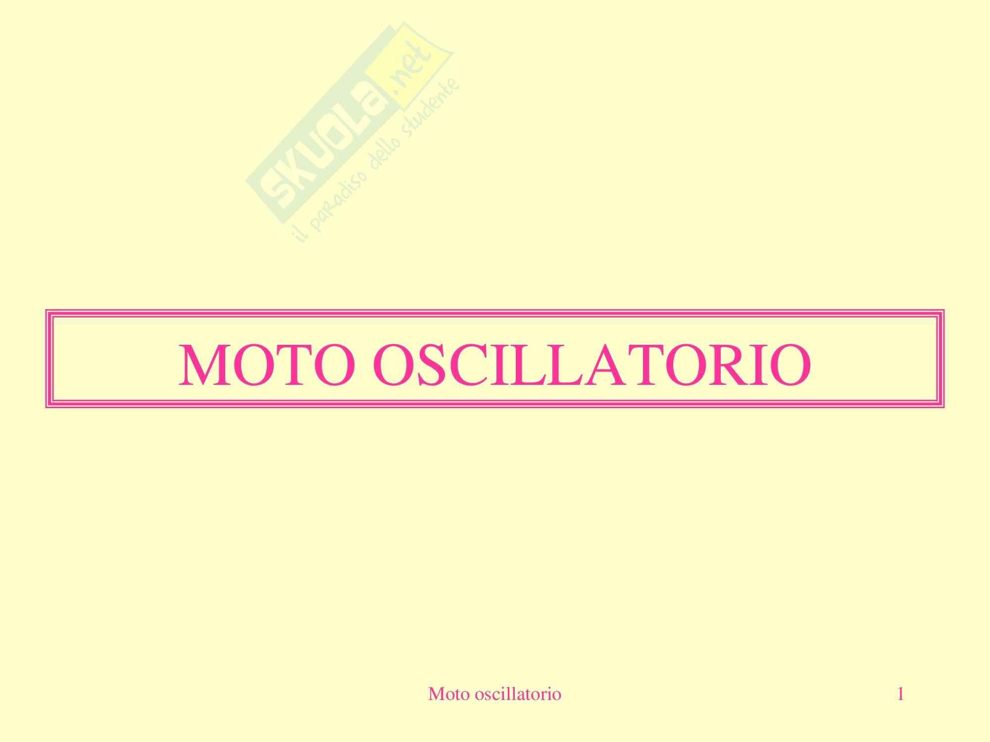 Fisica Medica - moto oscillatorio