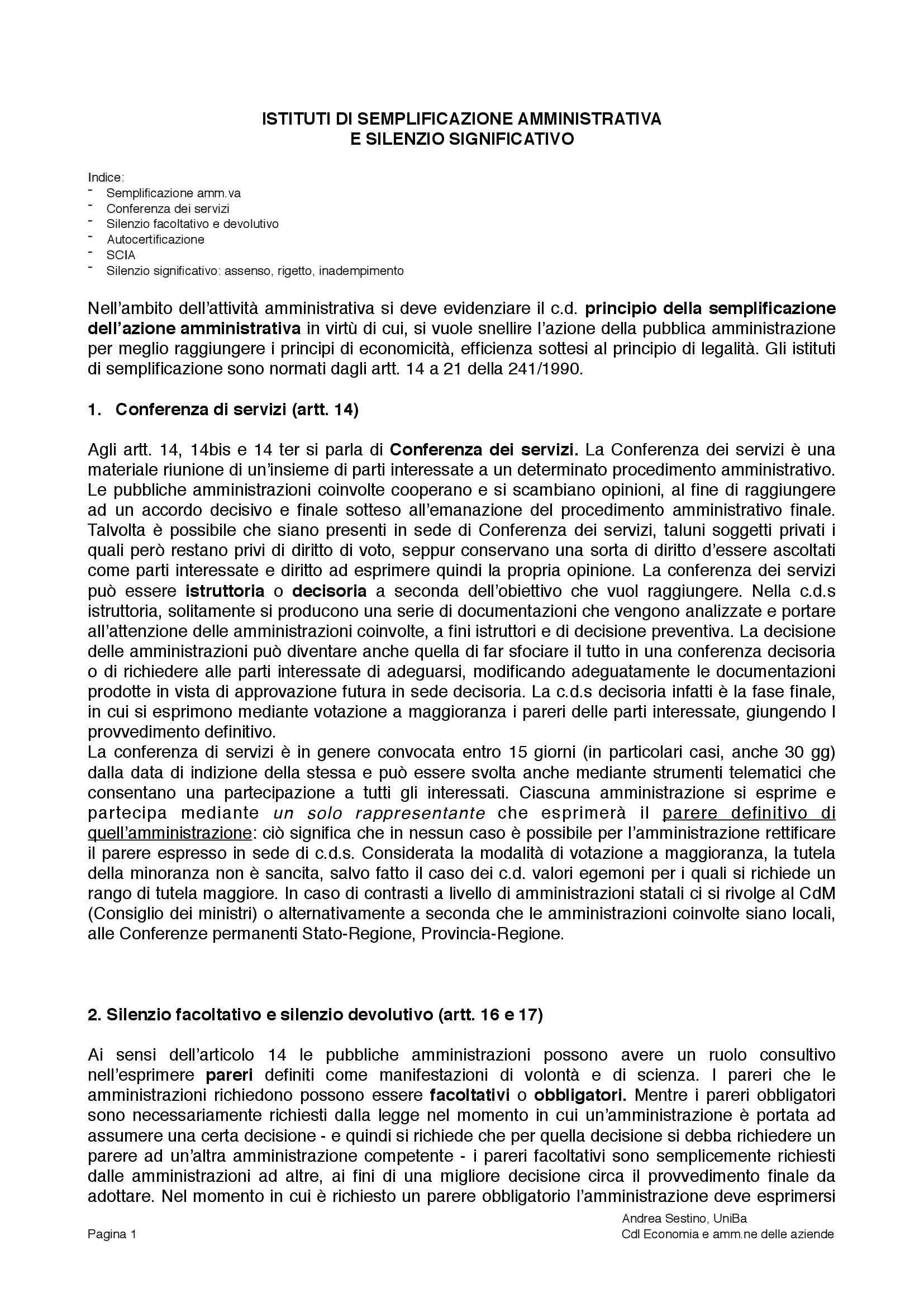 appunto P. Caputi Jambrenghi Diritto amministrativo