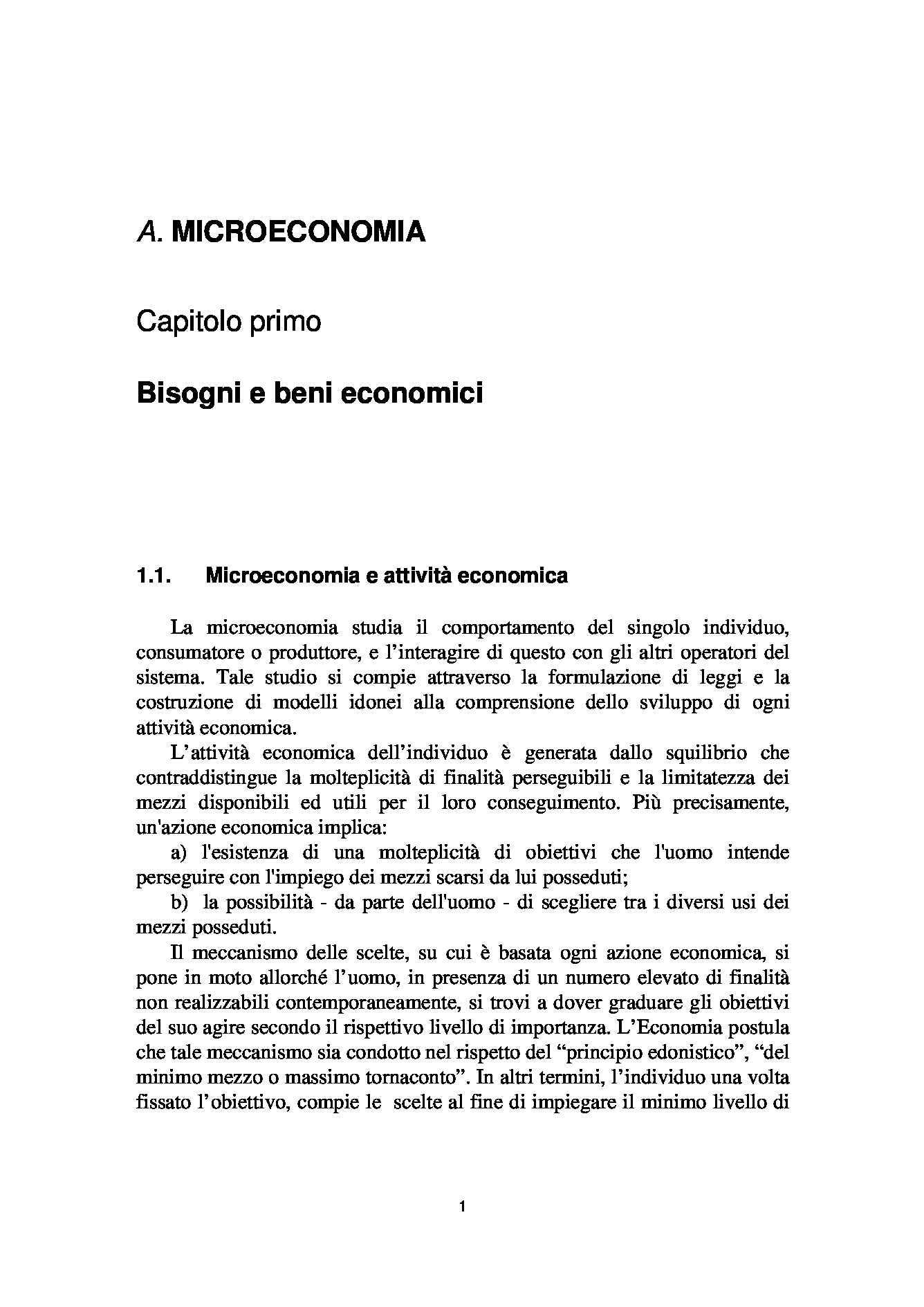 Economia politica e agroalimentare - bisogni e beni economici