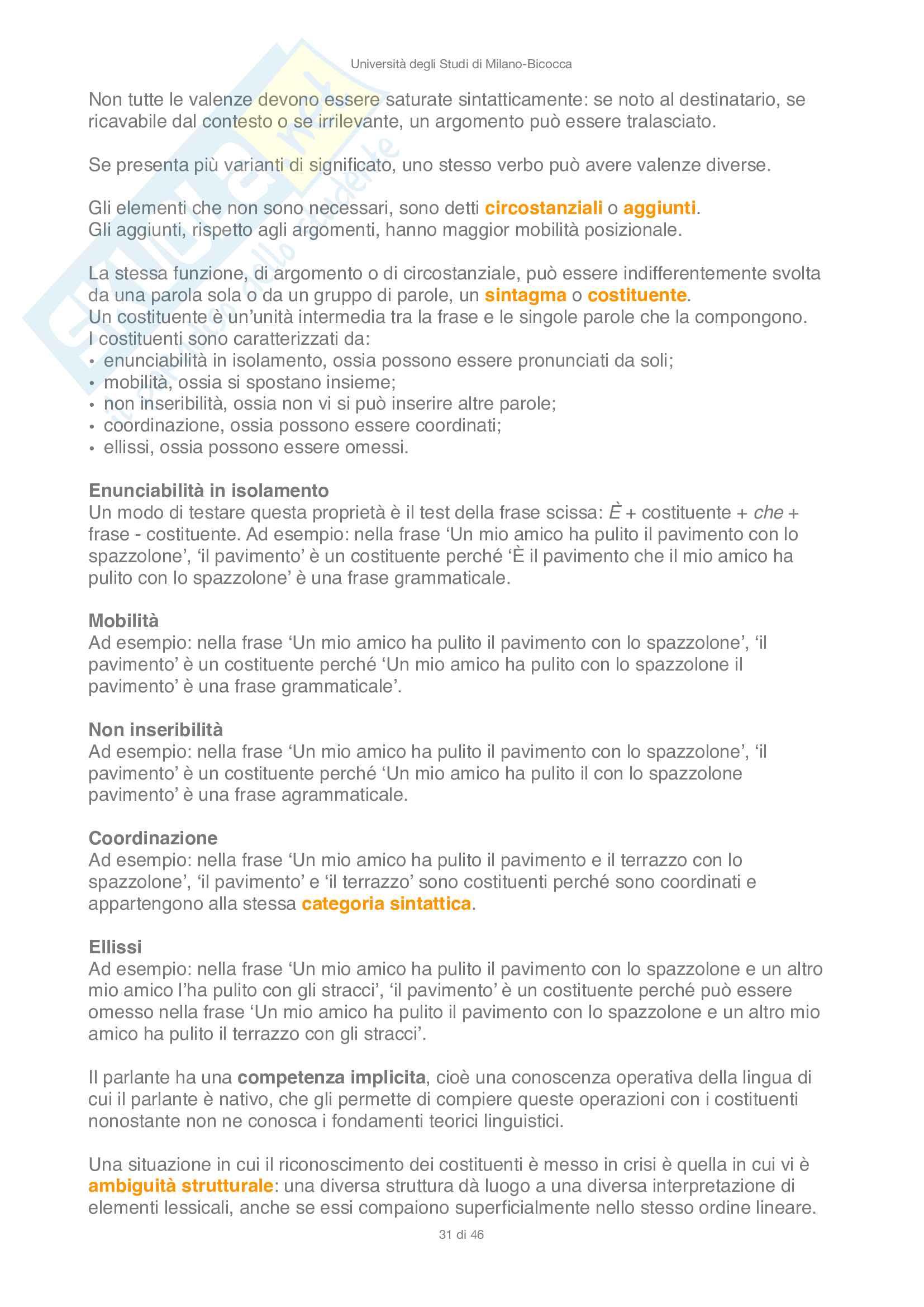 Sintesi di Linguistica e Psicolinguistica Pag. 31
