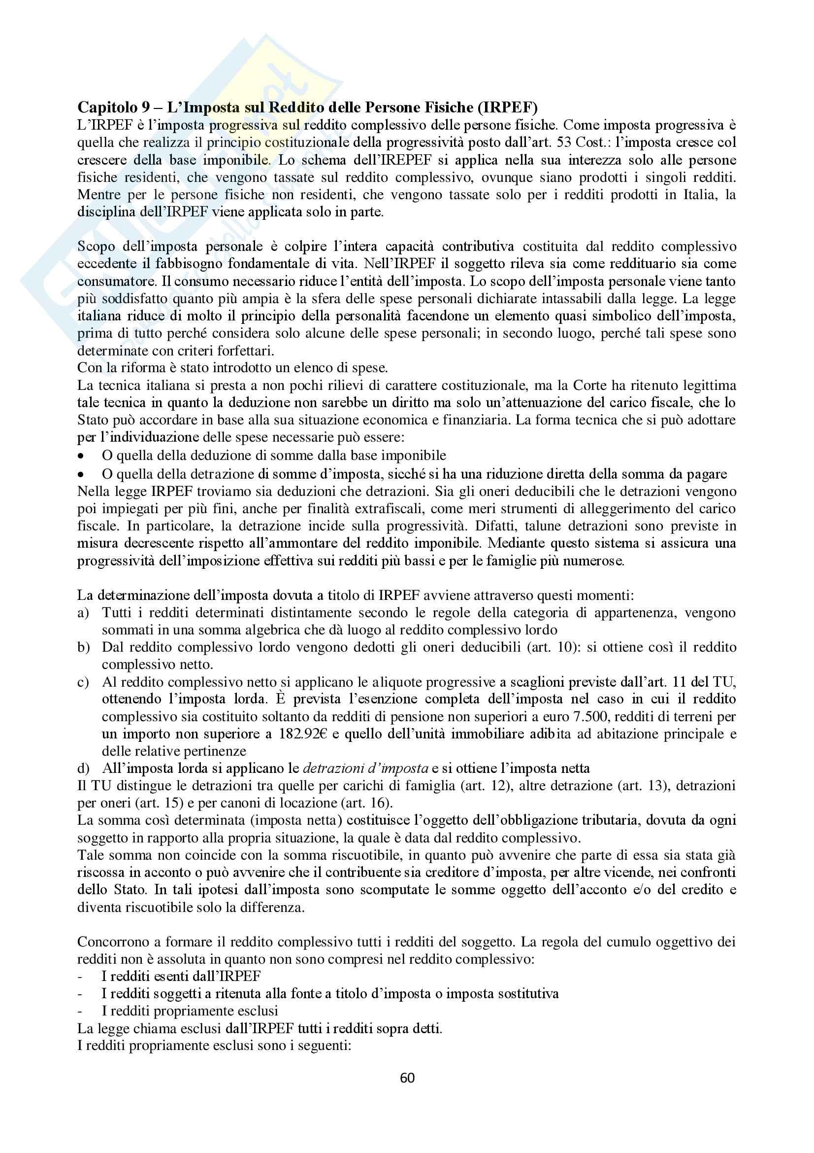 Appunti Diritto Tributario Pag. 61