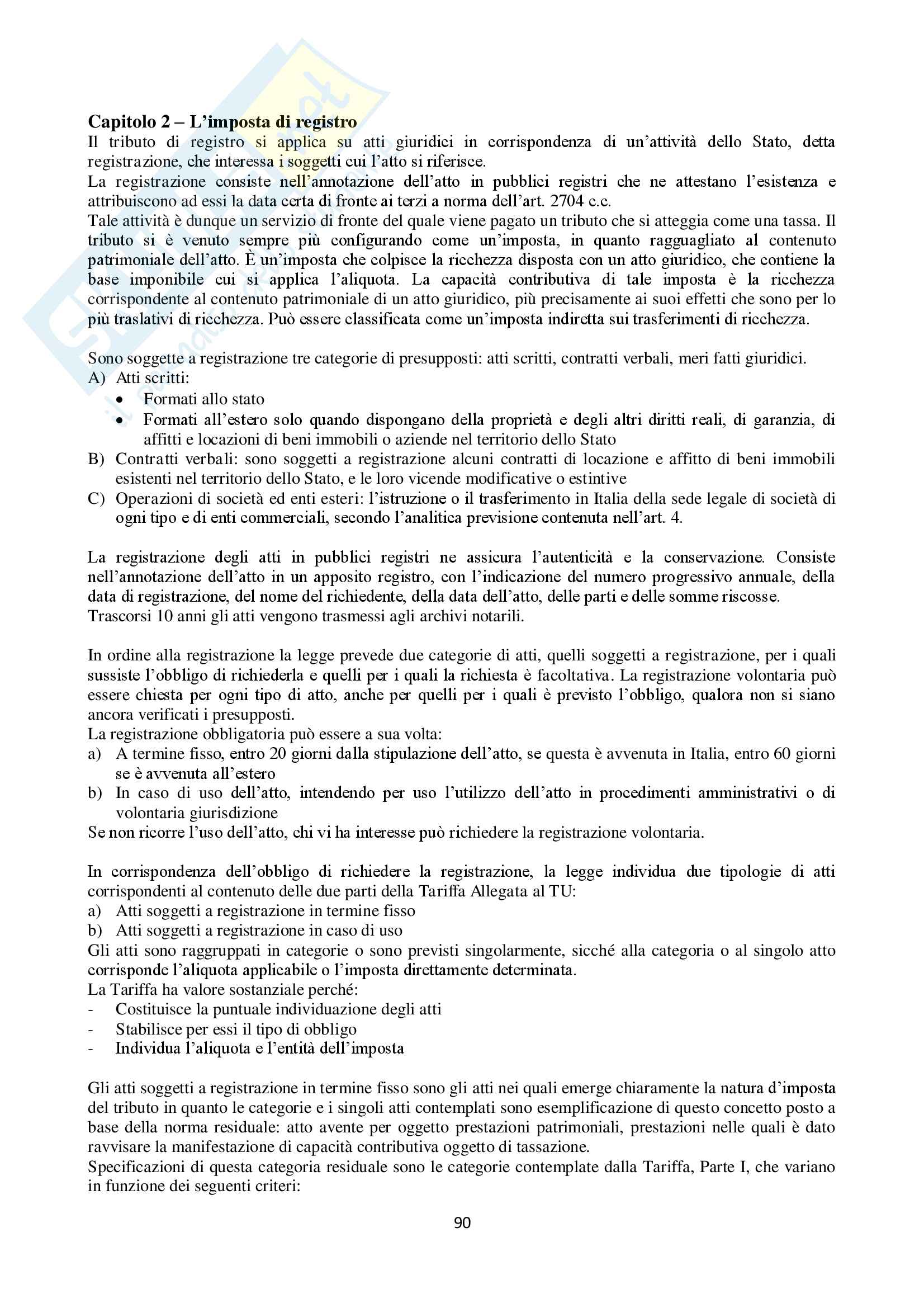 Appunti Diritto Tributario Pag. 91