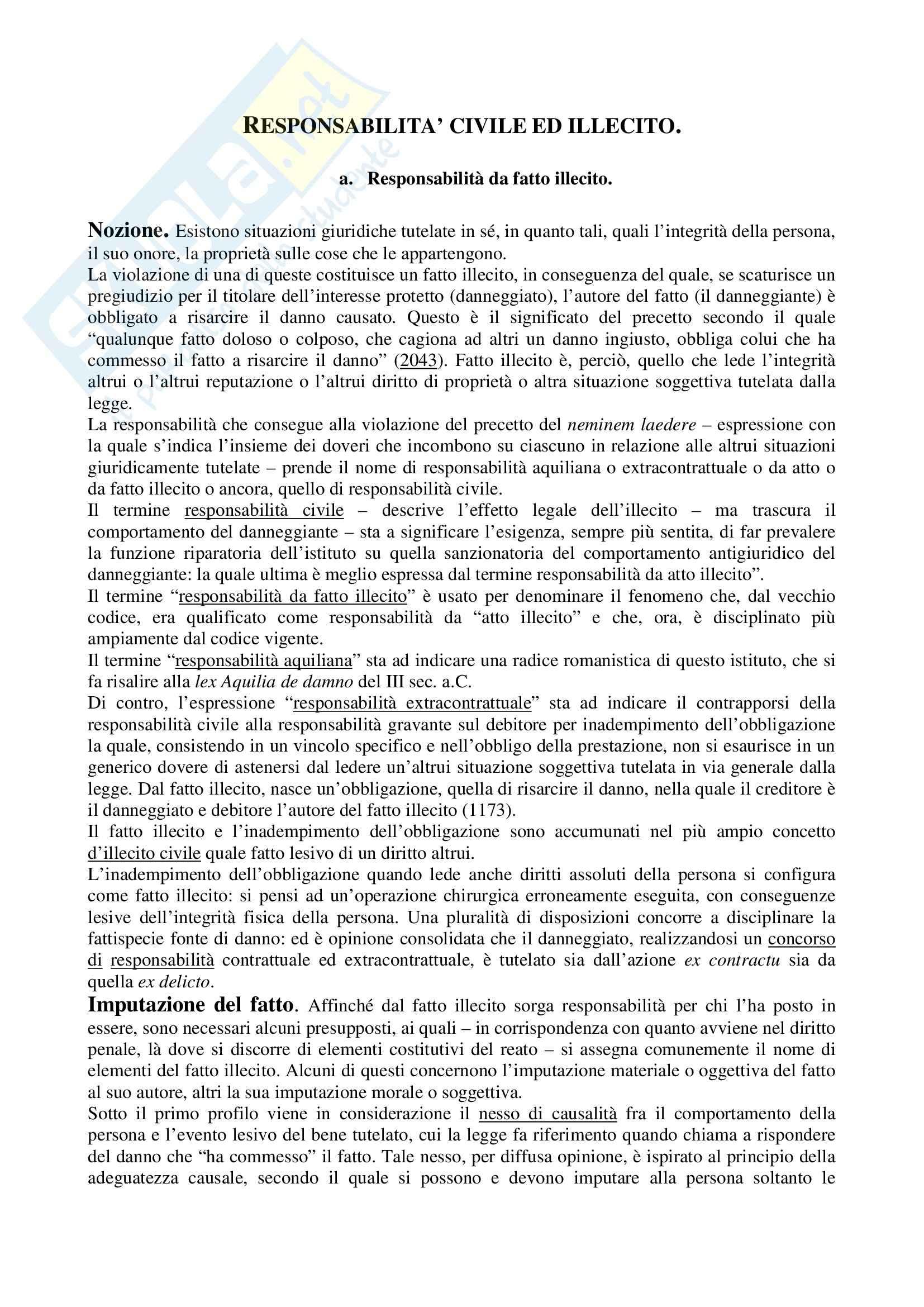Riassunto esame Diritto Privato, prof. Perlingieri, libro consigliato Manuale di Diritto Civile