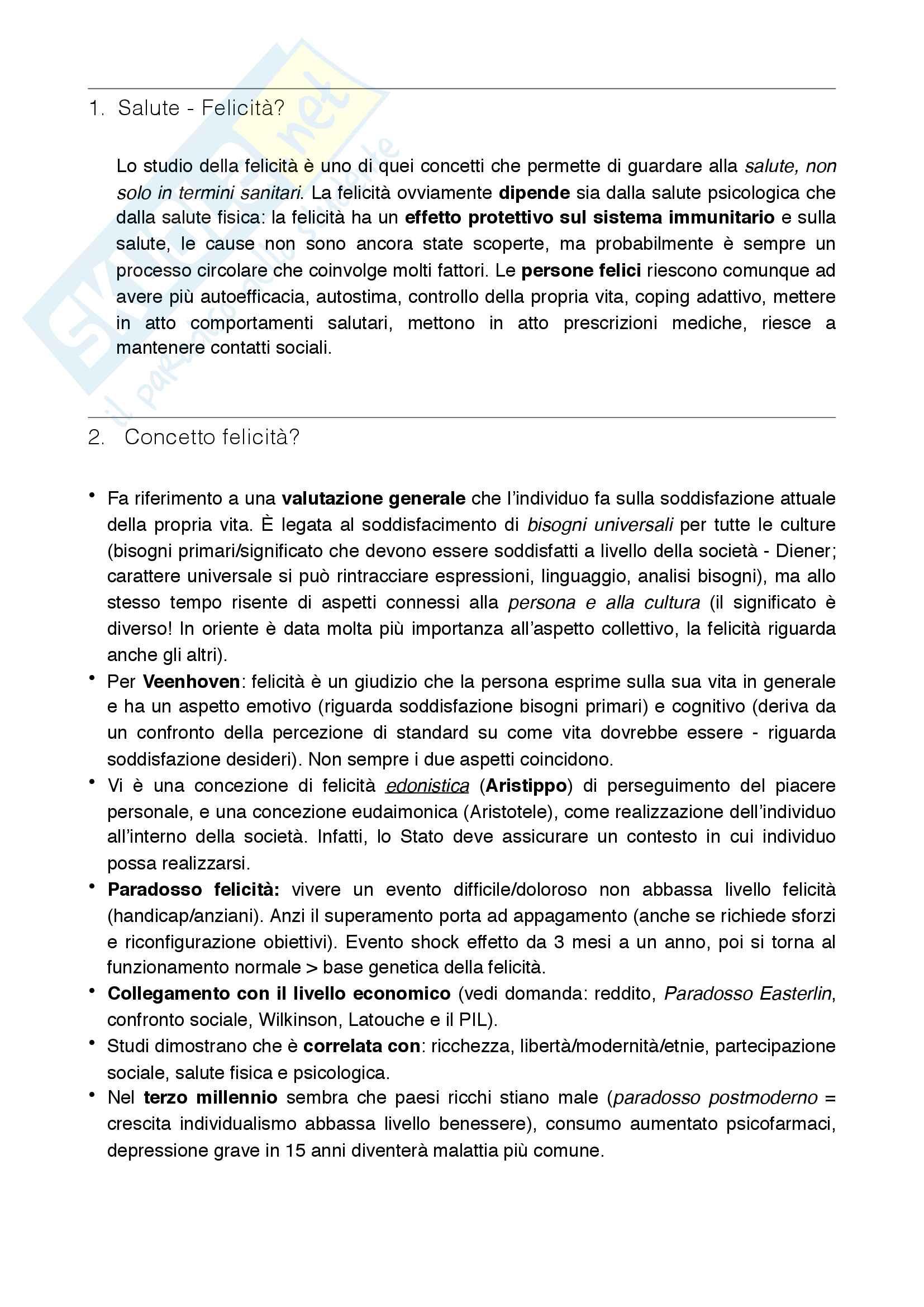 """Domande esame """"Metodi di intervento in psicologia di comunità"""", prof. De Piccoli"""