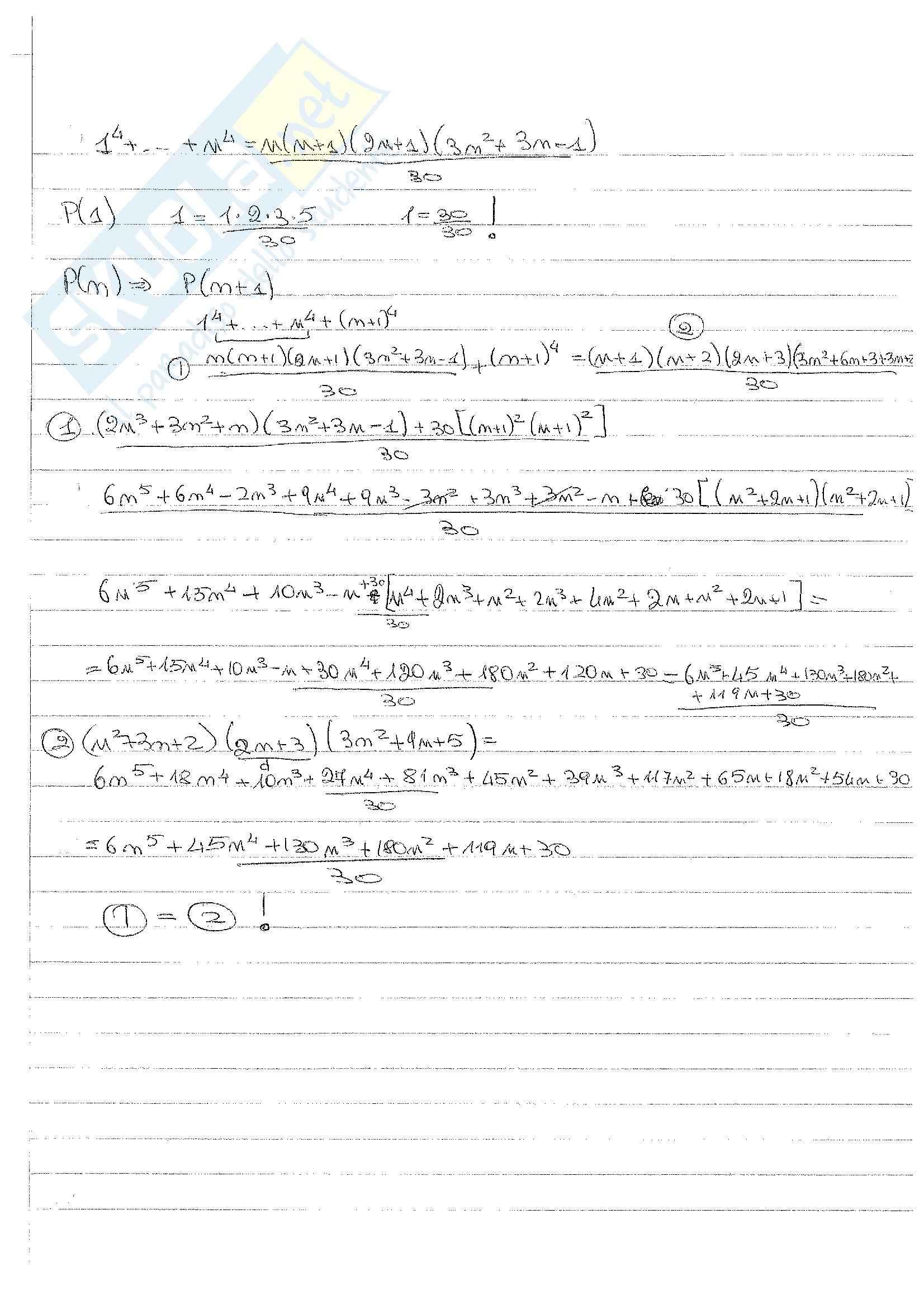 Matematica Discreta - Esercizi Pag. 11