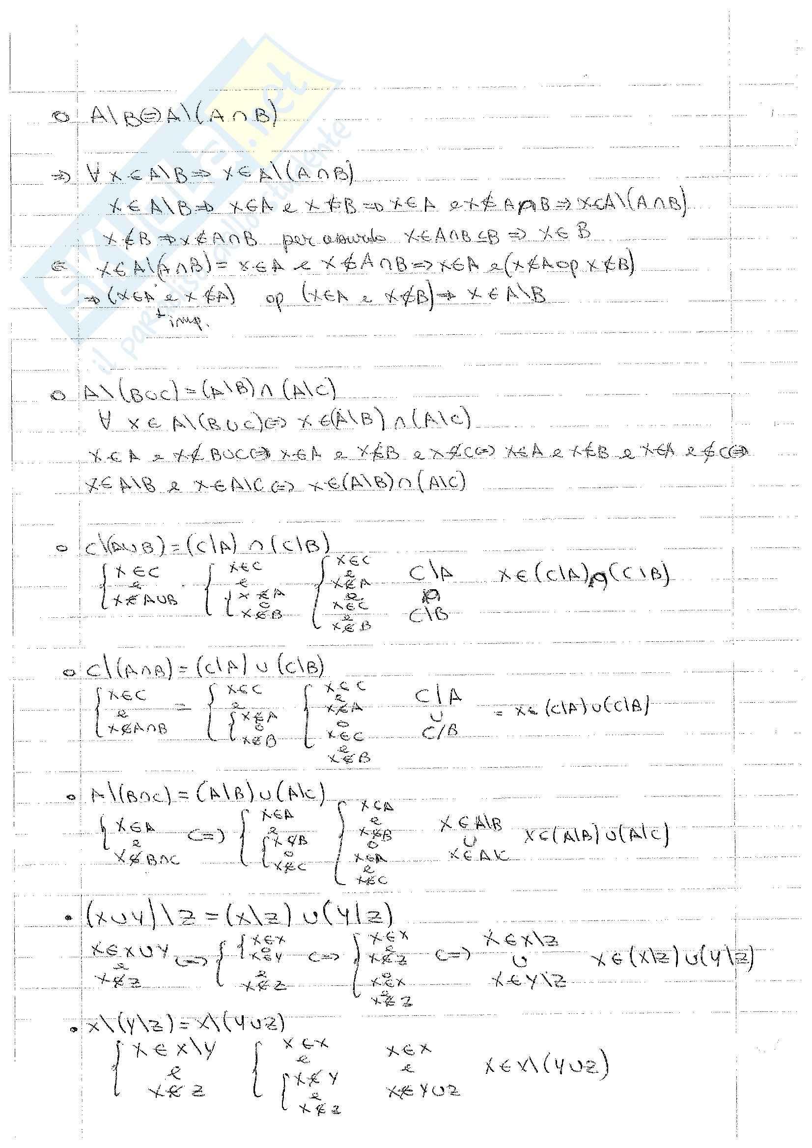Matematica Discreta - Esercizi Pag. 2