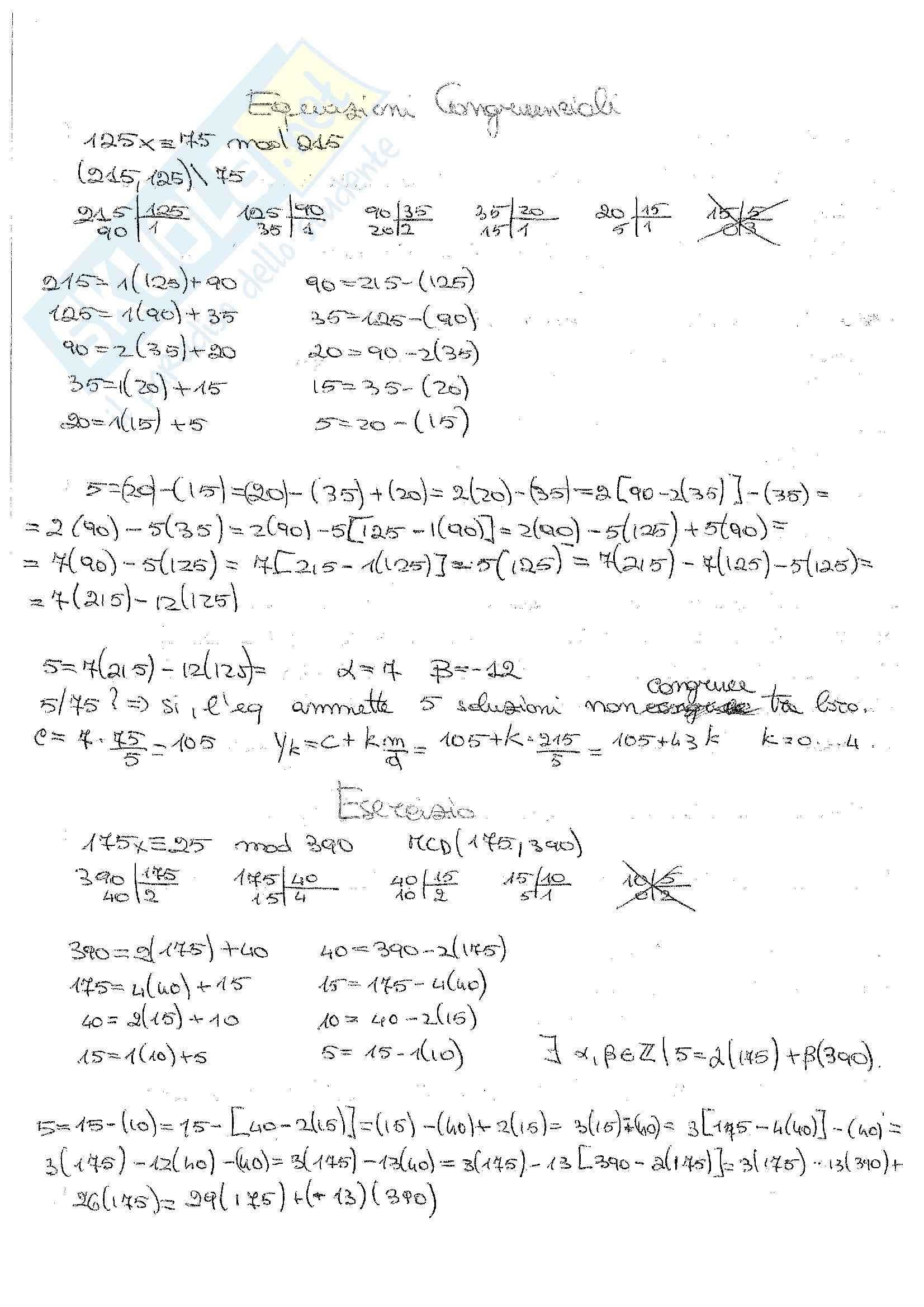 Matematica Discreta - Esercizi Pag. 31