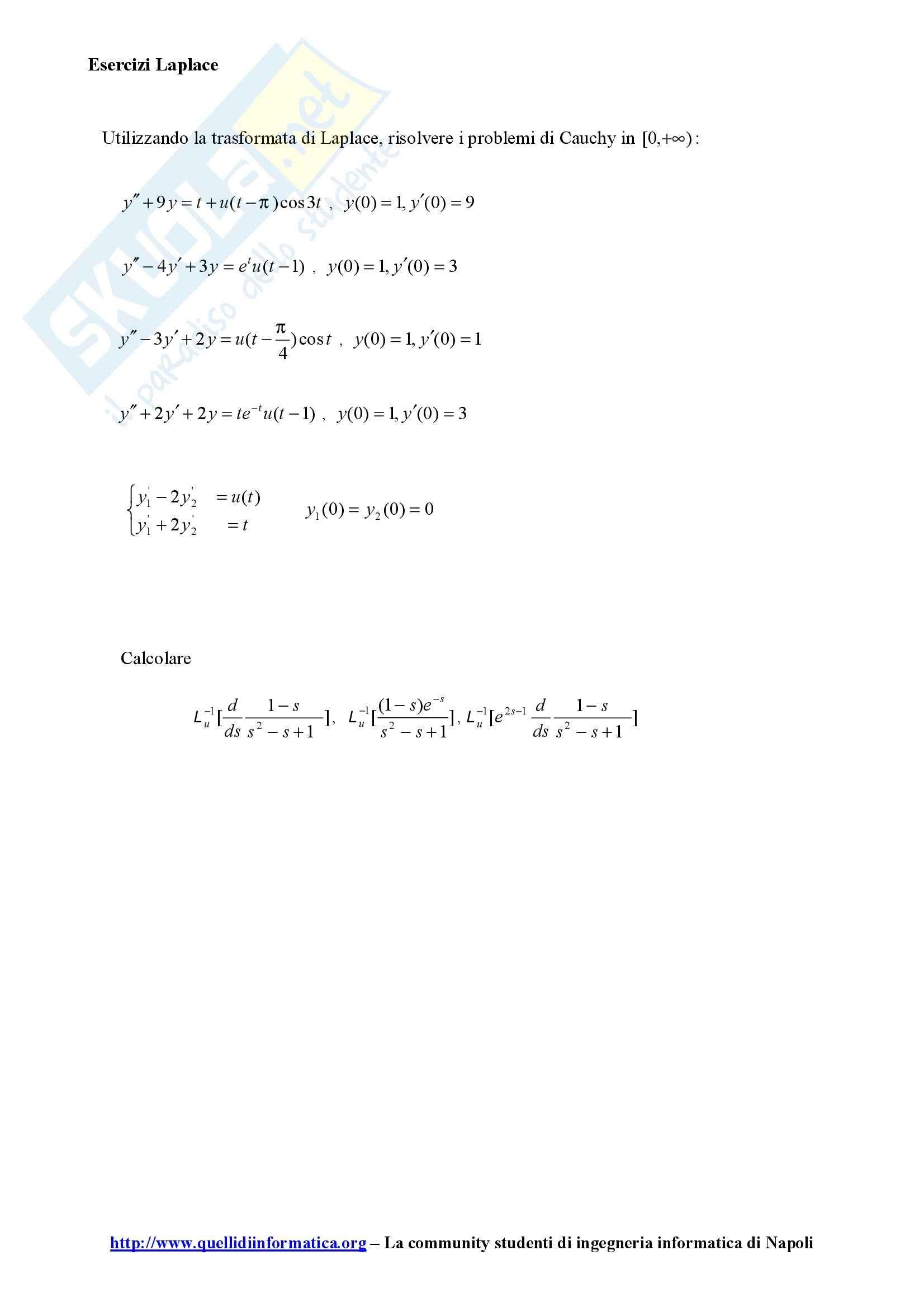esercitazione V. Ferone Metodi matematici per l'ingegneria