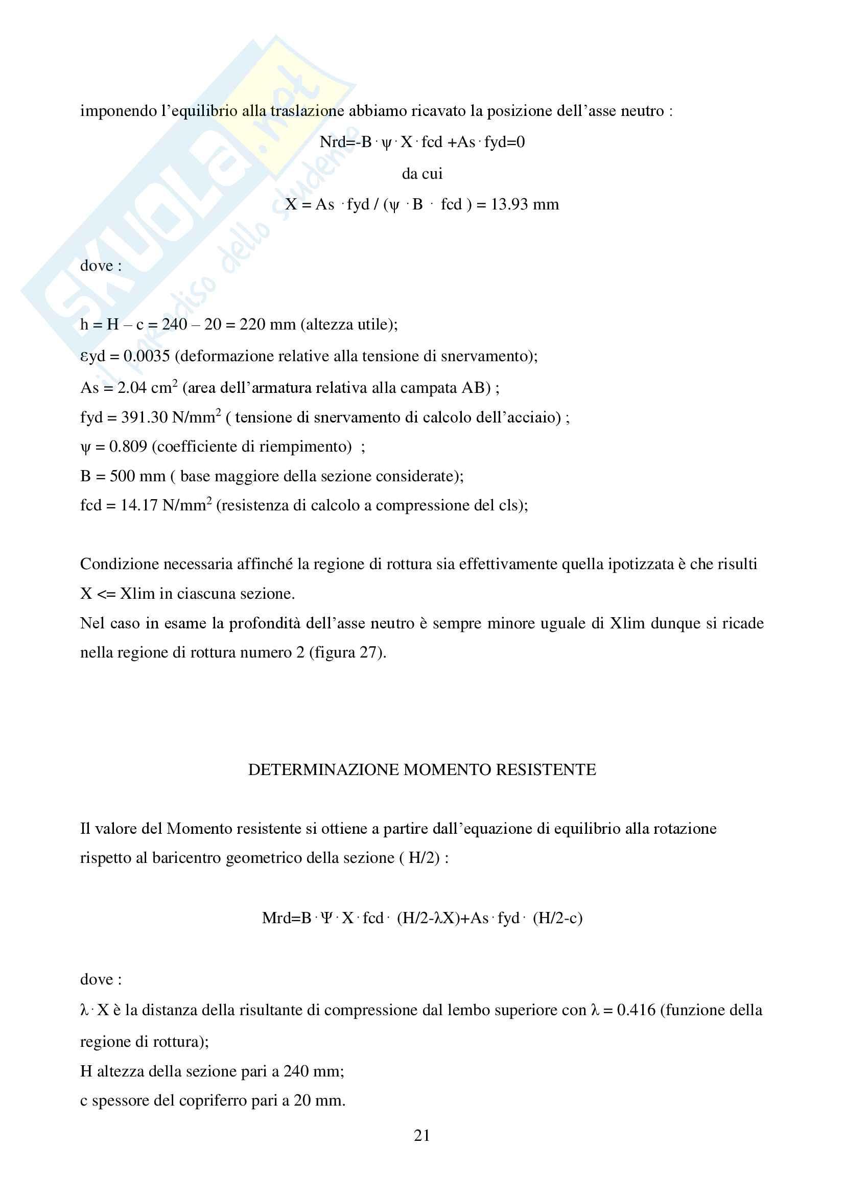 Relazione Progetto di un Solaio Pag. 21