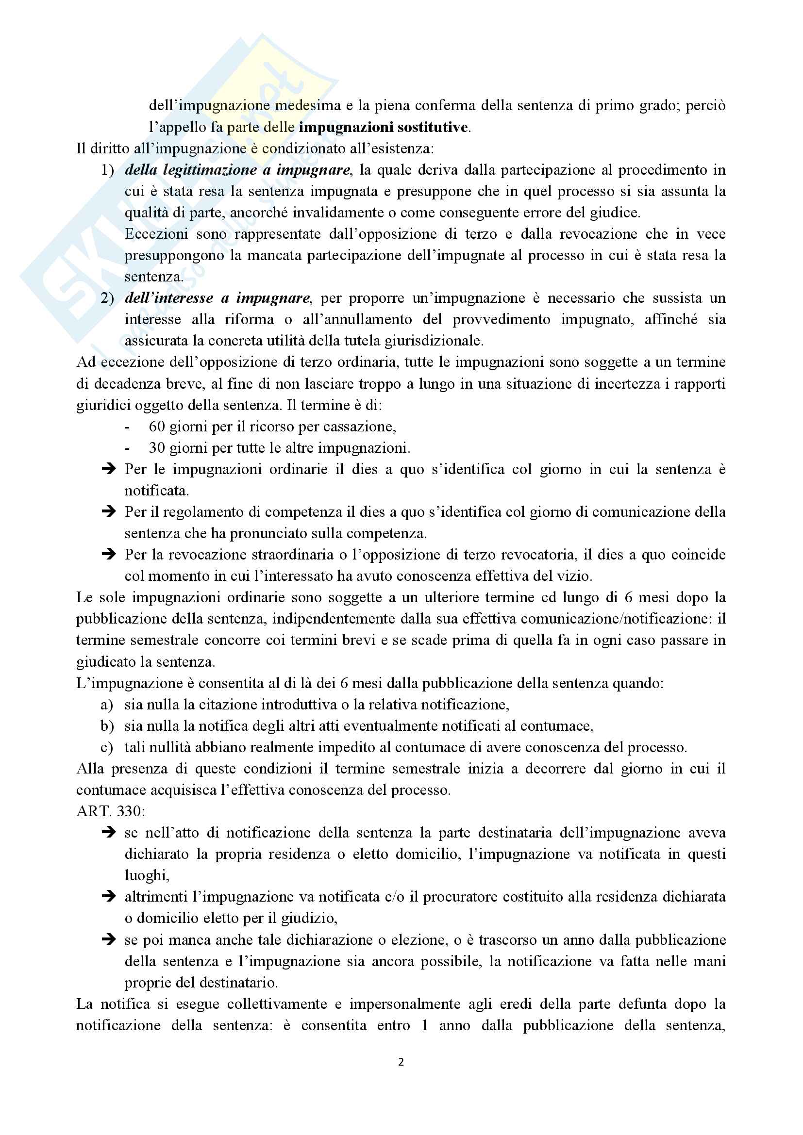 Procedura civile: le impugnazioni Pag. 2