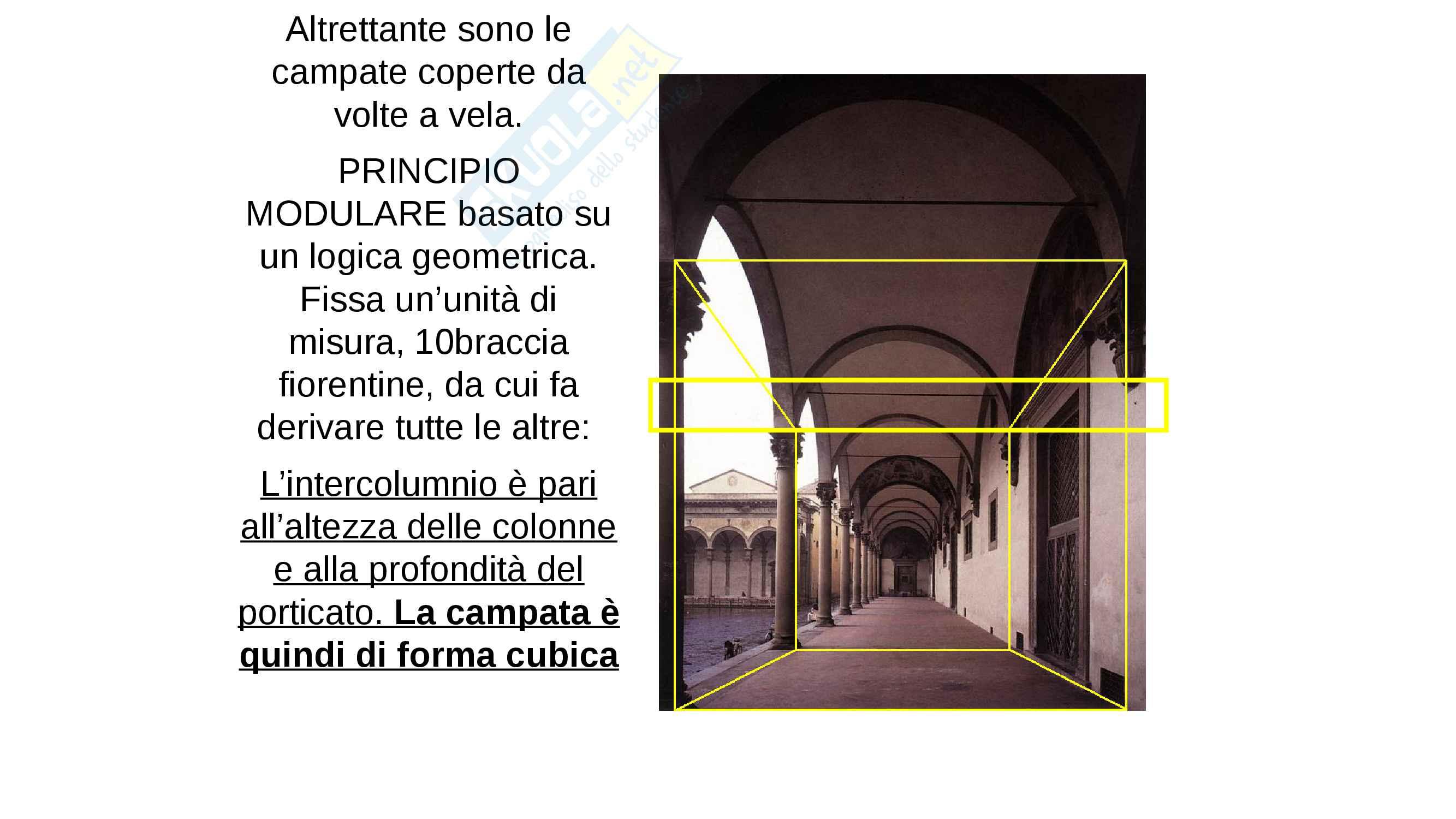 Lo Spedale degli Innocenti- Brunelleschi. completo con IMMAGINI, facile memorizzazione Pag. 6