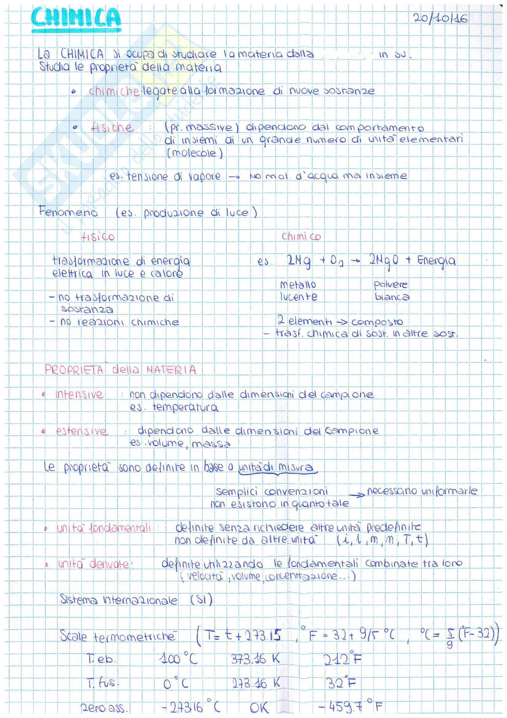 Appunti di Chimica 1 parte