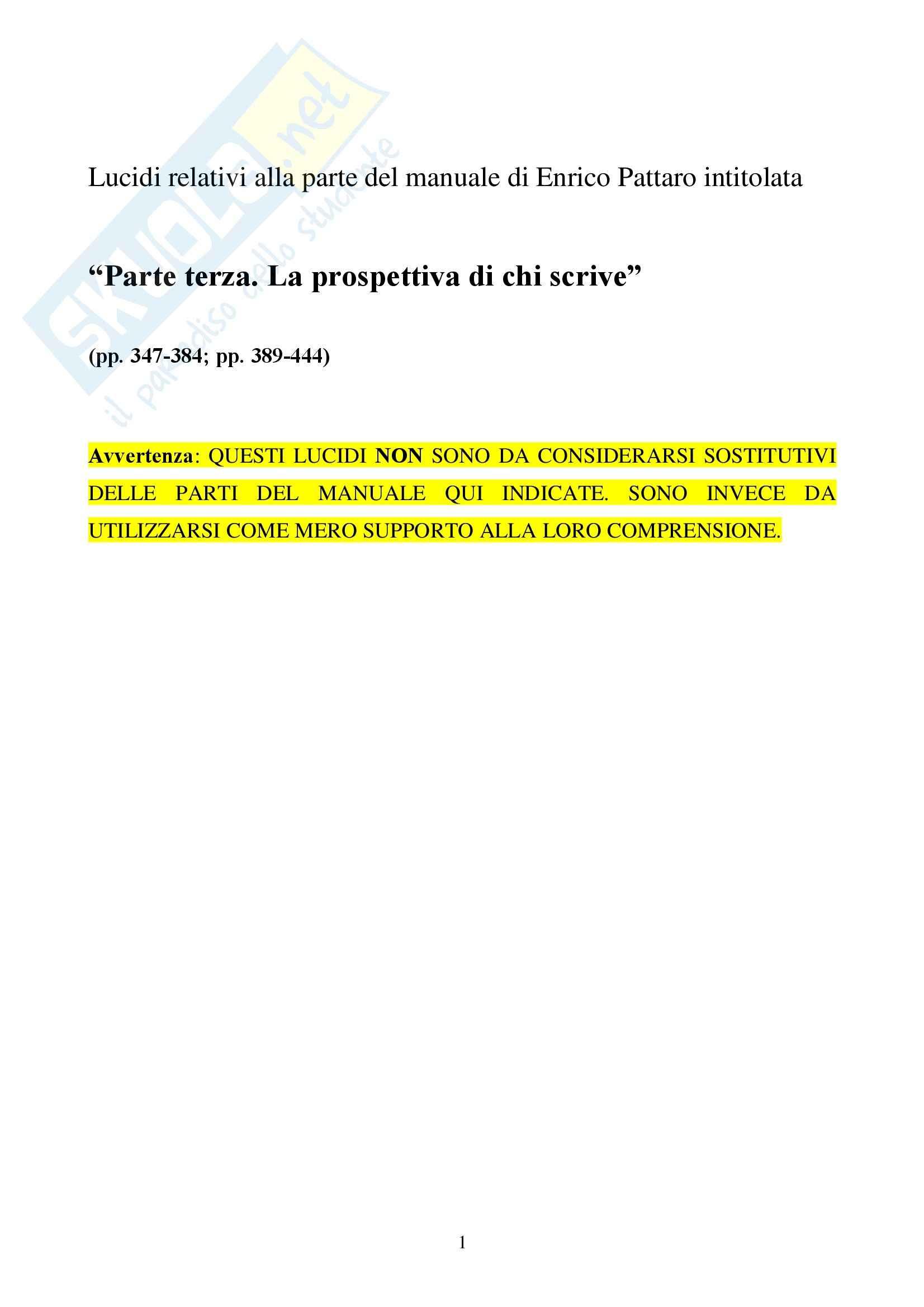 appunto E. Pattaro Filosofia del diritto