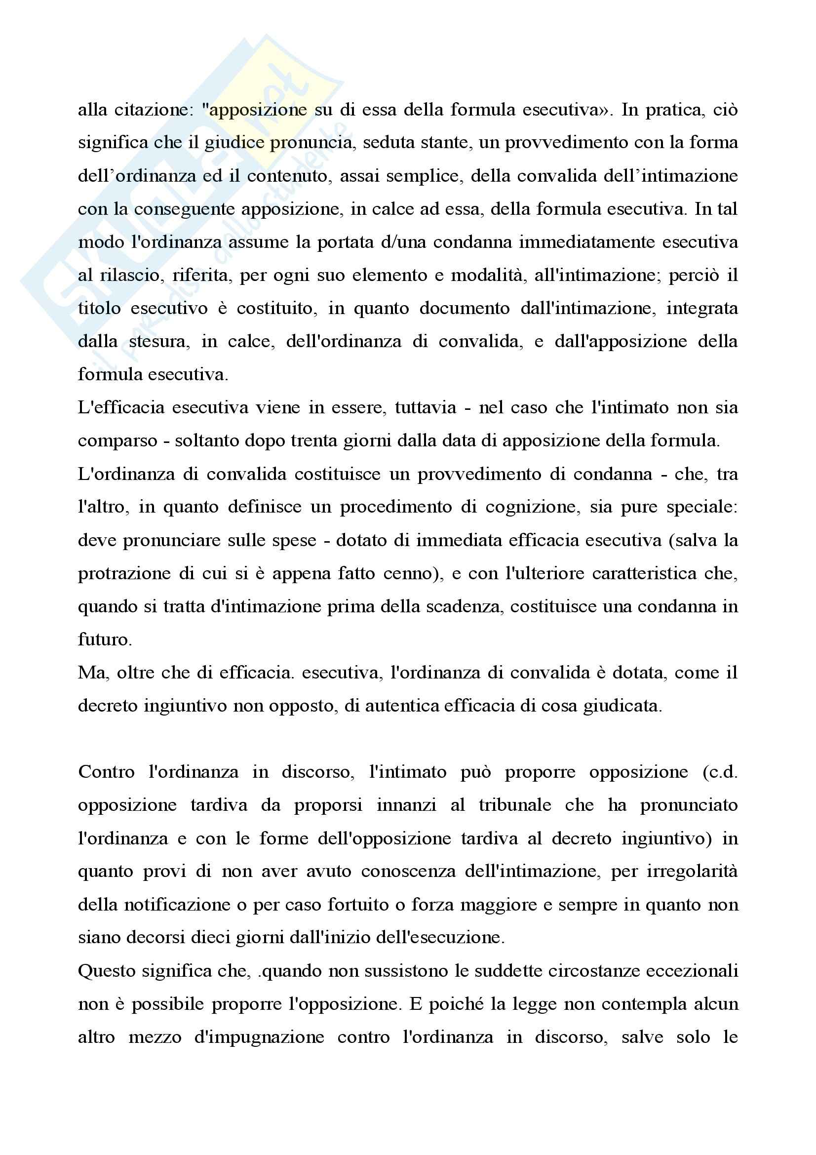 Diritto processuale civile II - procedimenti Pag. 6