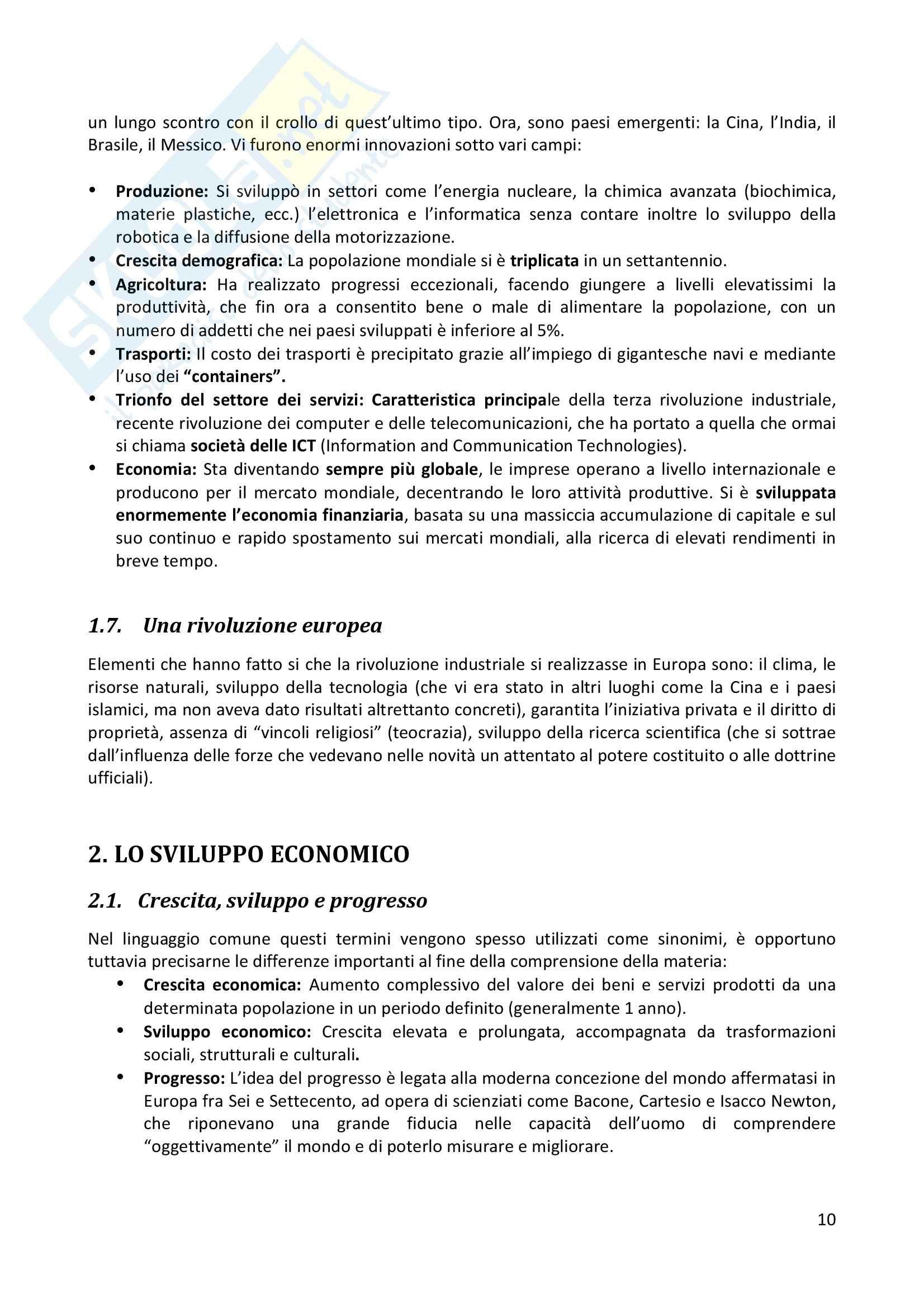 Riassunto esame completo per paragrafi- Storia Economica De Simone, prof. Di Taranto Pag. 11