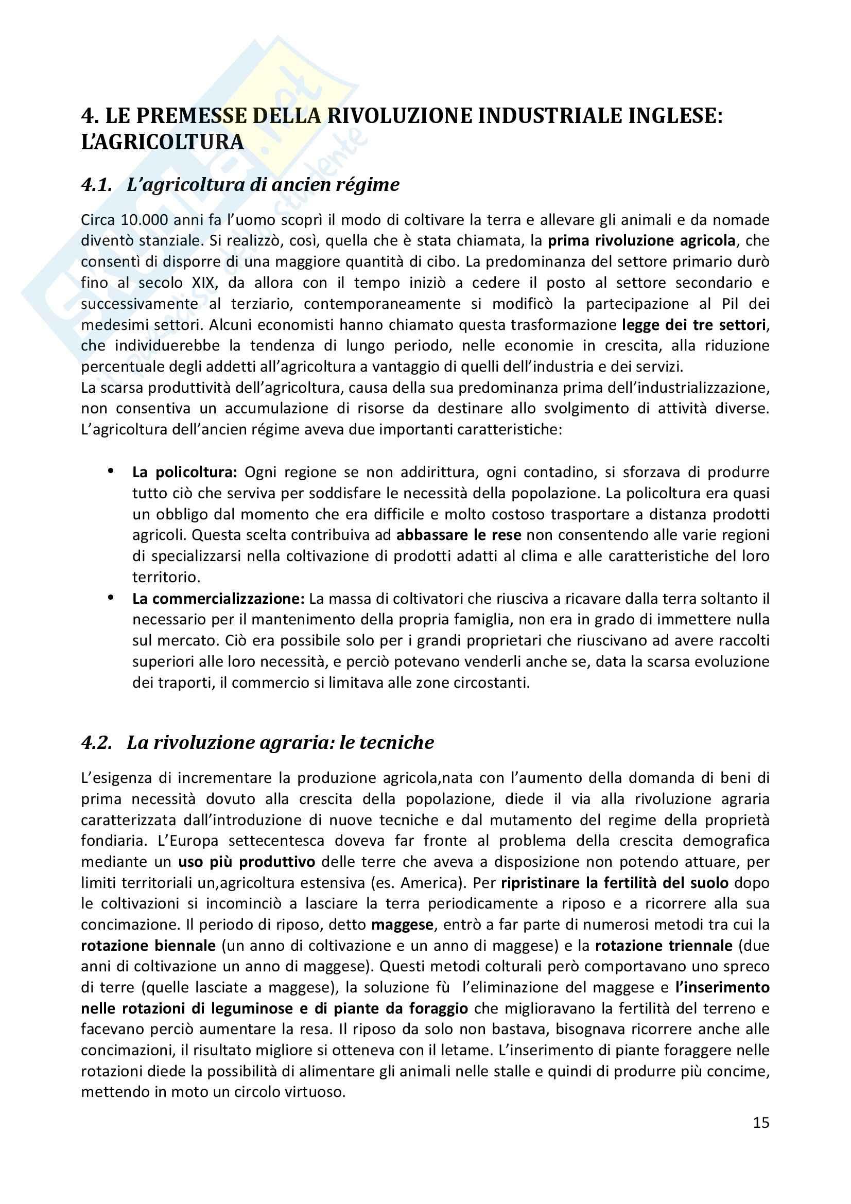 Riassunto esame completo per paragrafi- Storia Economica De Simone, prof. Di Taranto Pag. 16