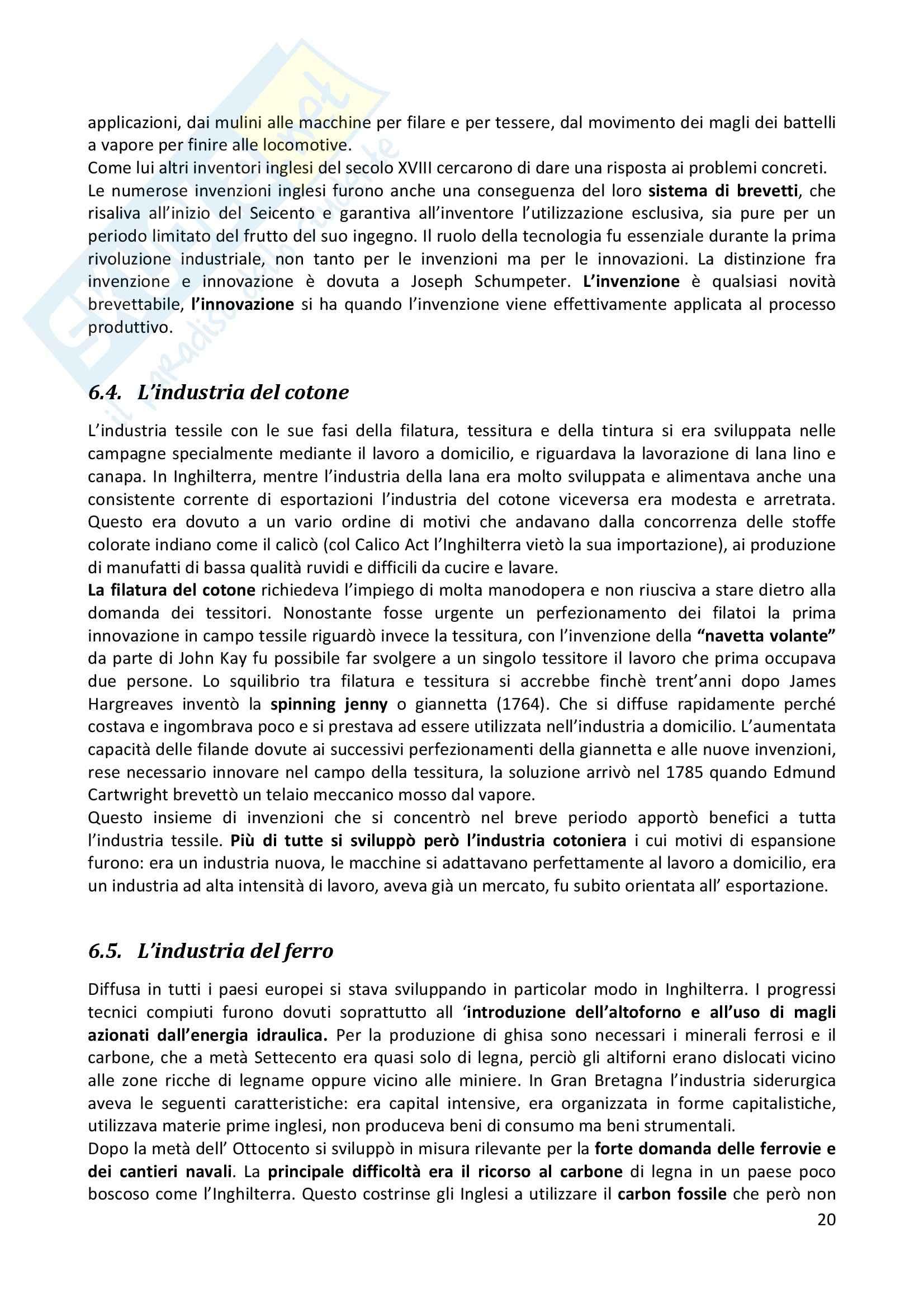 Riassunto esame completo per paragrafi- Storia Economica De Simone, prof. Di Taranto Pag. 21