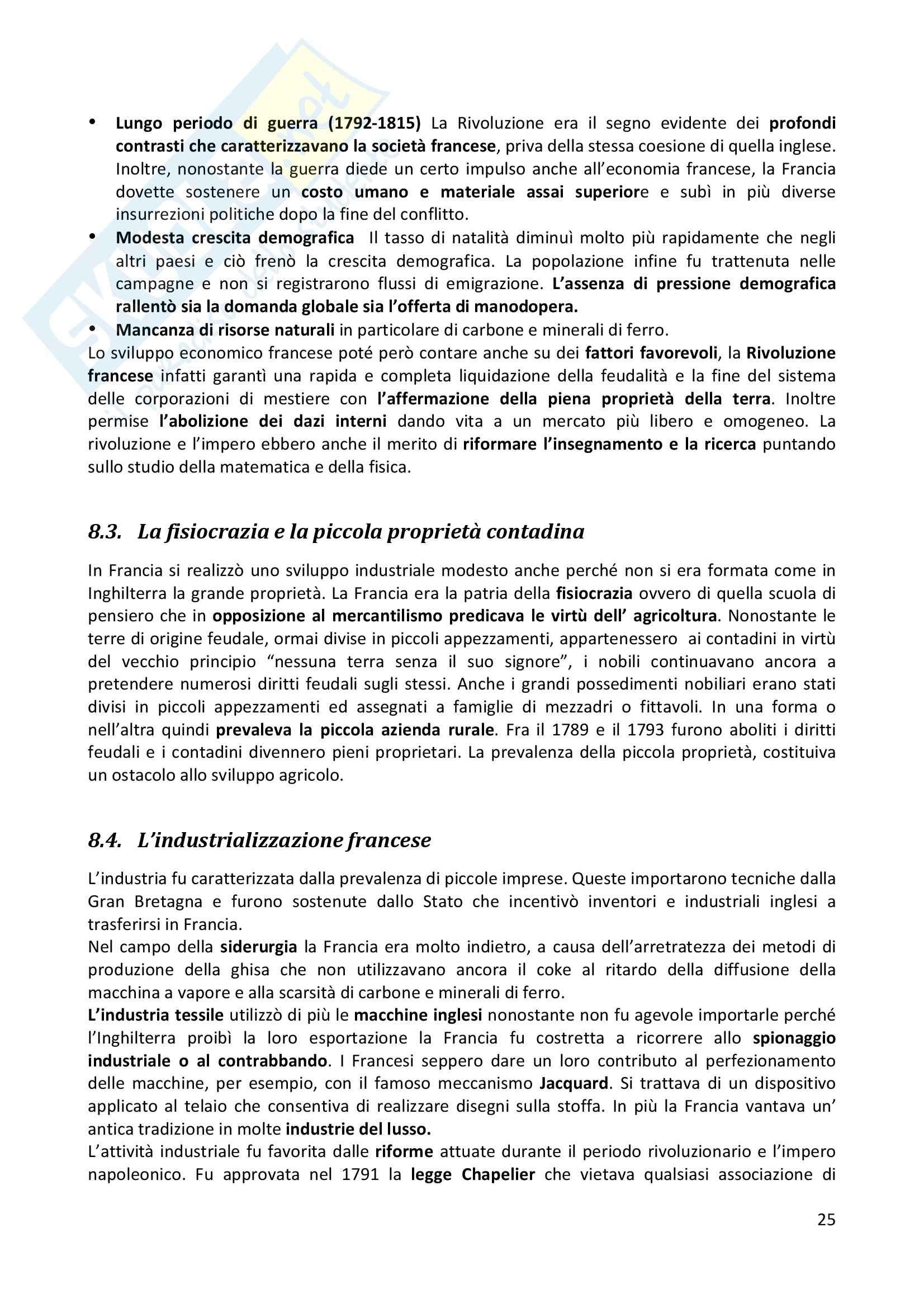 Riassunto esame completo per paragrafi- Storia Economica De Simone, prof. Di Taranto Pag. 26