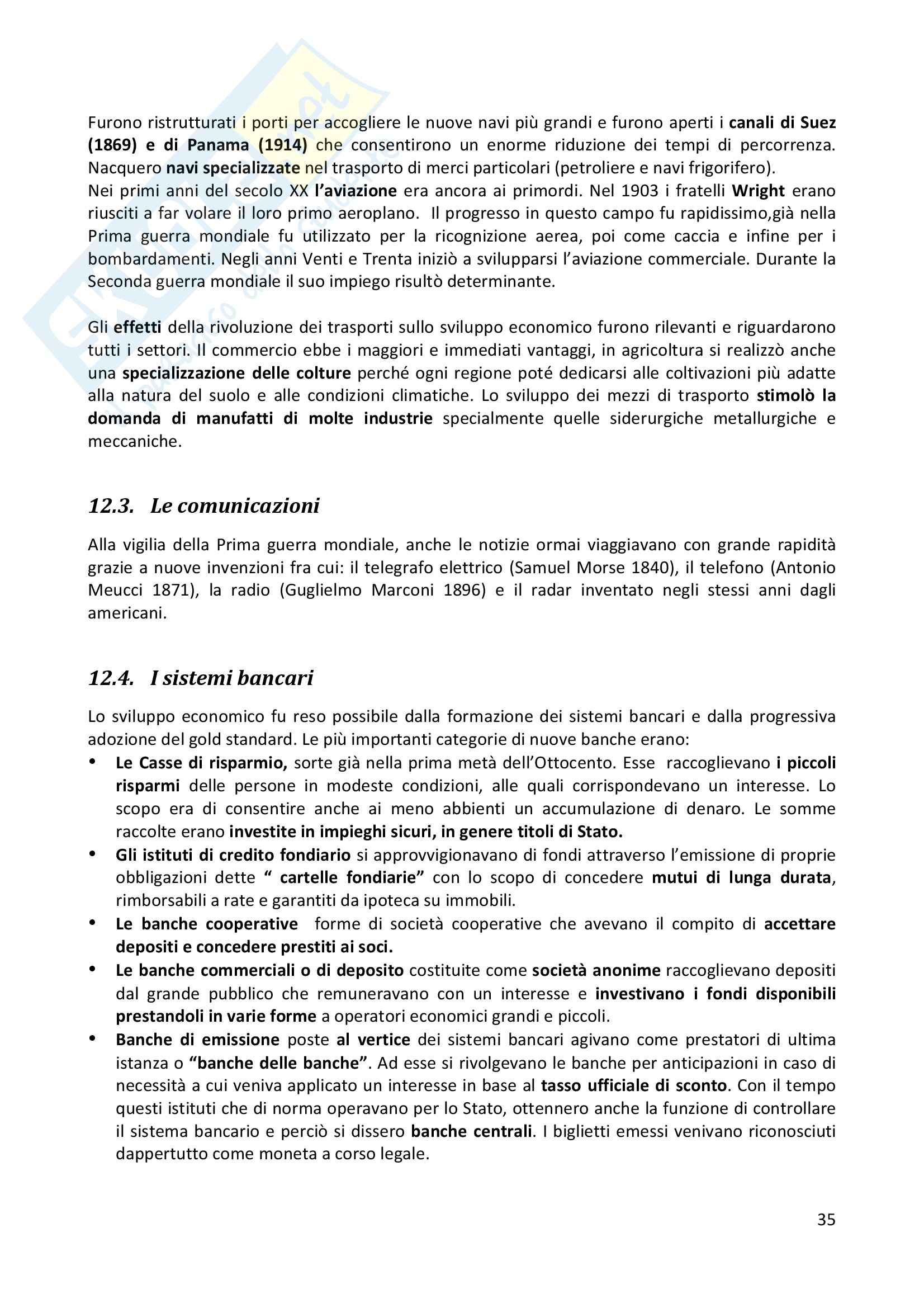 Riassunto esame completo per paragrafi- Storia Economica De Simone, prof. Di Taranto Pag. 36