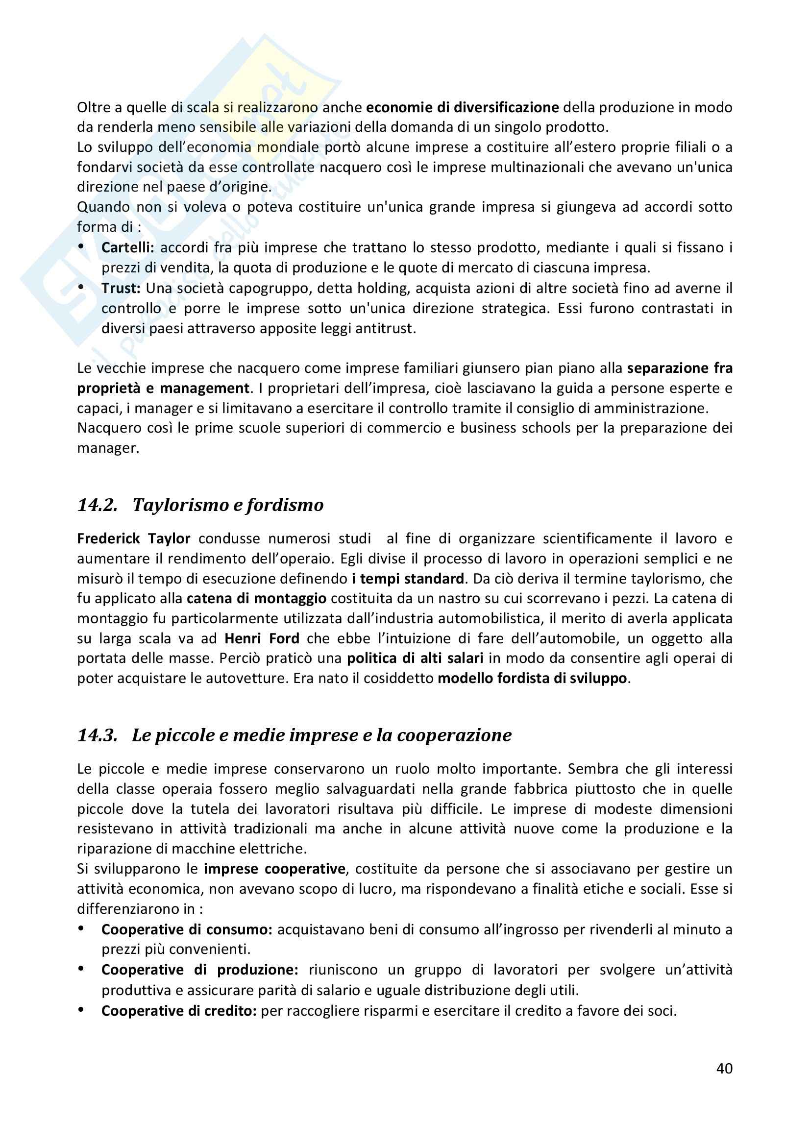 Riassunto esame completo per paragrafi- Storia Economica De Simone, prof. Di Taranto Pag. 41
