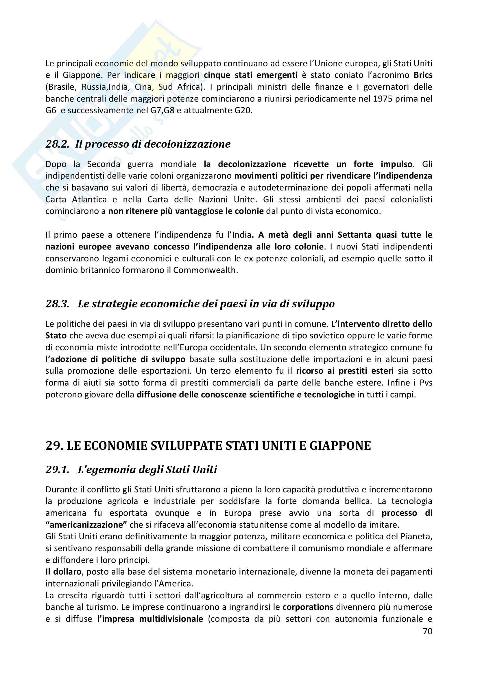 Riassunto esame completo per paragrafi- Storia Economica De Simone, prof. Di Taranto Pag. 71