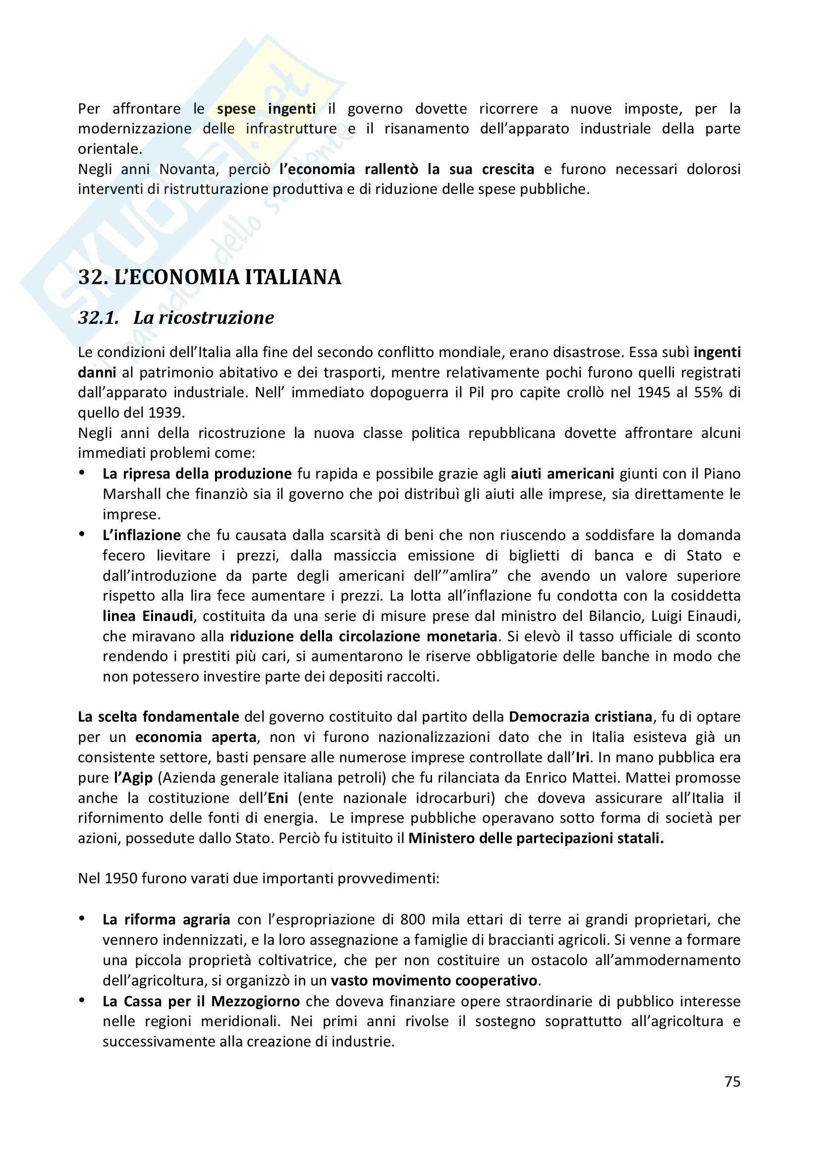 Riassunto esame completo per paragrafi- Storia Economica De Simone, prof. Di Taranto Pag. 76