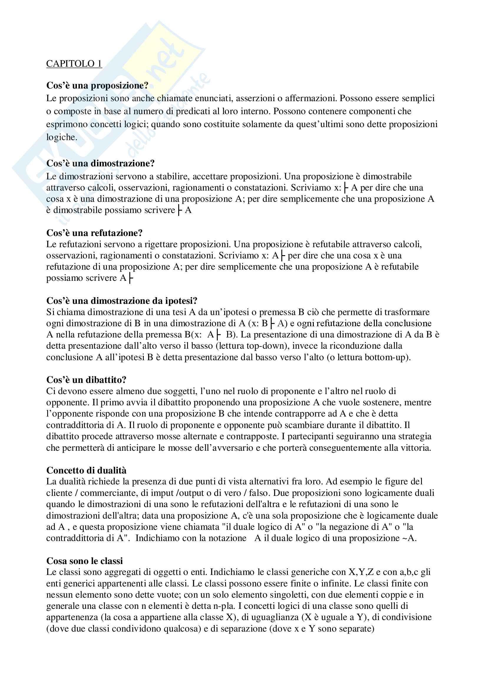 Riassunti per esame di logica + esercizi, prof. Abrusci, Università Roma tre,